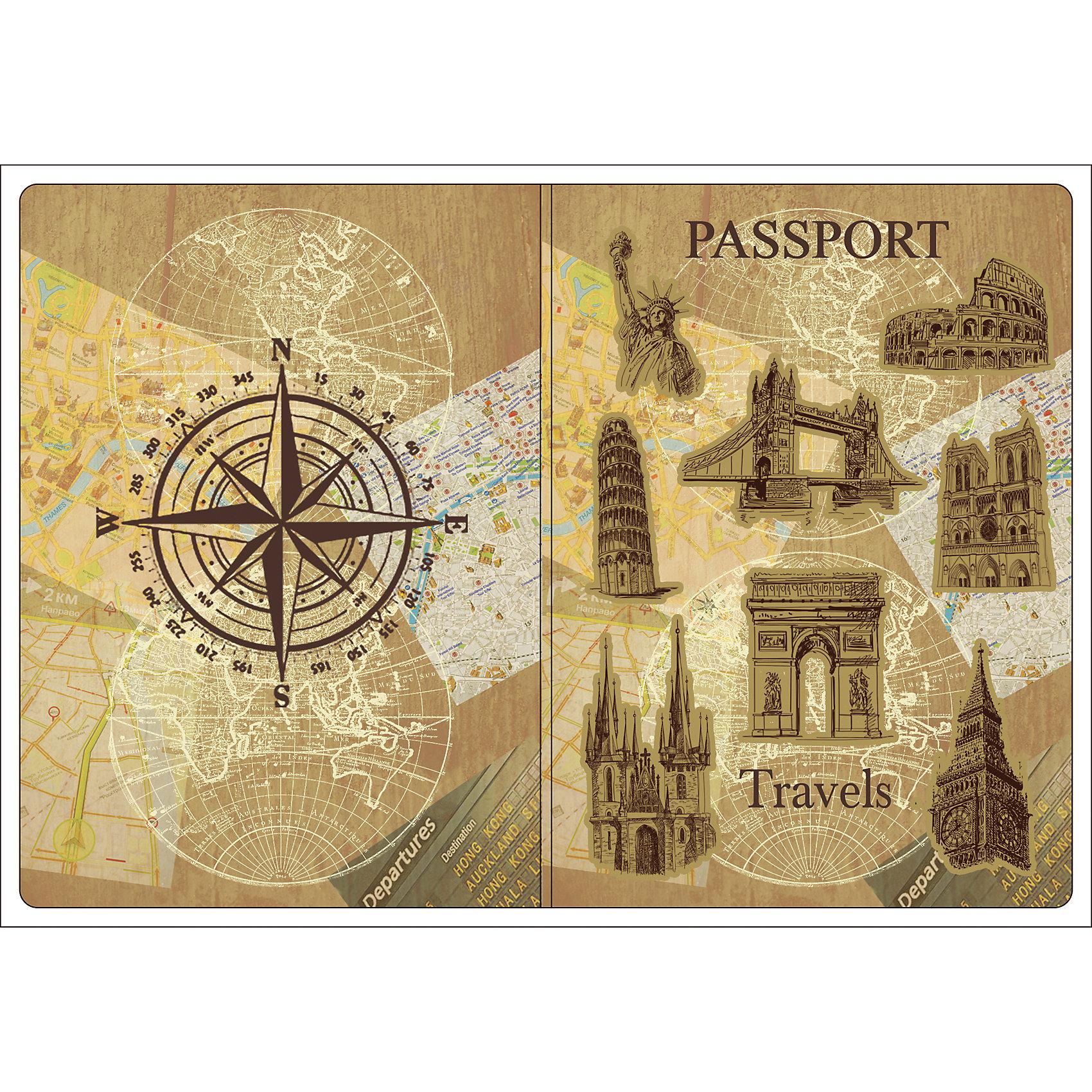 """Обложка для паспорта """"Достопримечательности"""", Феникс-Презент от myToys"""