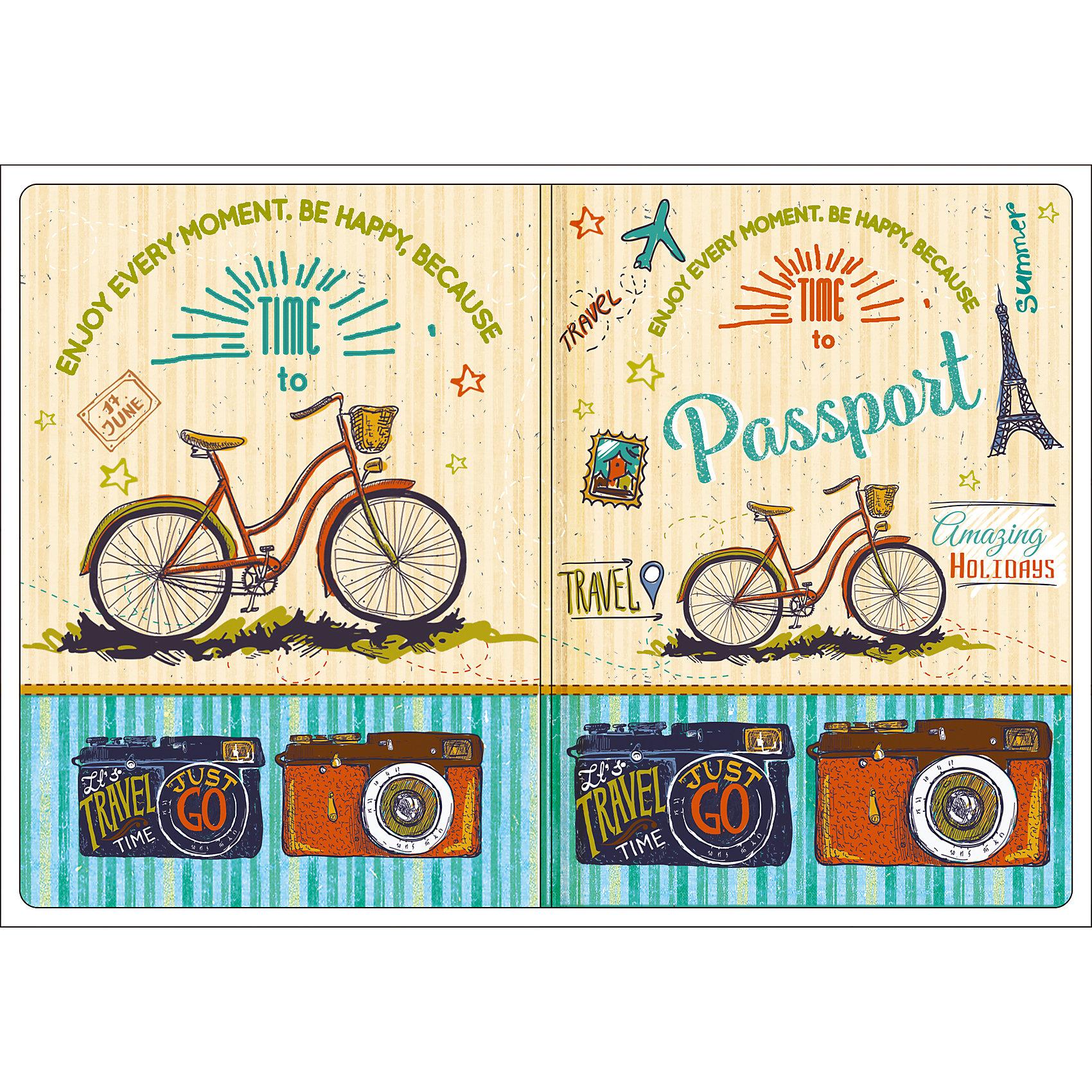 Обложка для паспорта Тревел байк, Феникс-ПрезентВ дорогу<br>Обложка для паспорта Тревел байк, Феникс-Презент<br><br>Характеристики:<br><br>• оригинальный дизайн<br>• высокая прочность<br>• размер: 13,3х19,1 см<br>• материал: ПВХ<br><br>Оригинальная обложка для паспорта всегда будет радовать вас своей красотой. Кроме того, она подойдет в качестве подарка. Обложка Тревел байк изготовлена из качественного прочного ПВХ, устойчивого к износу. На обложке изображены велосипеды и фотоаппараты - всё необходимое для спортивного путешествия..<br><br>Обложку для паспорта Тревел байк, Феникс-Презент вы можете купить в нашем интернет-магазине.<br><br>Ширина мм: 133<br>Глубина мм: 191<br>Высота мм: 50<br>Вес г: 31<br>Возраст от месяцев: 168<br>Возраст до месяцев: 2147483647<br>Пол: Унисекс<br>Возраст: Детский<br>SKU: 5449588