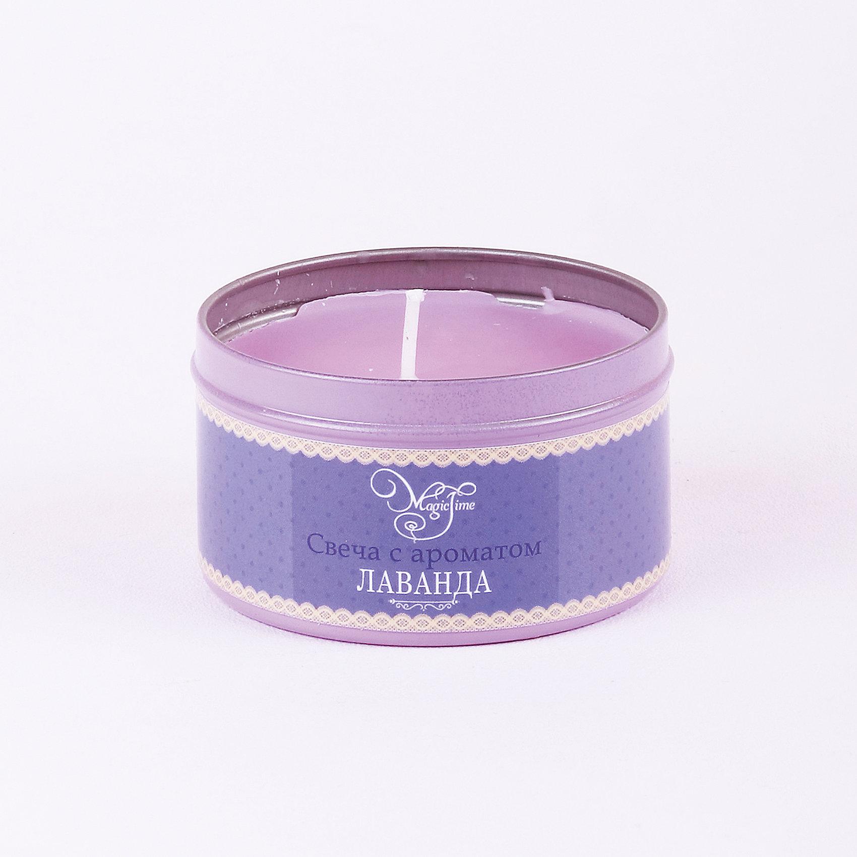 Свеча декоративная ароматизированная парафиновая с ароматом лаванды, Феникс-ПрезентВсё для праздника<br>Свеча декоративная ароматизированная парафиновая с ароматом лаванды, Феникс-Презент<br><br>Характеристики:<br><br>• оригинальная упаковка<br>• насыщенный аромат<br>• размер: 6х6х4 см<br>• аромат: лаванда<br>• материал: парафин, металл<br><br>Свеча с ароматом лаванды наполнит вашу комнату приятным ароматом и озарит ее красивым сиянием. Свеча упакована в жестяную банку. Это защитит поверхность стола или тумбы от излишних загрязнений. Красивое свечение и насыщенный аромат добавят гармонии и уюта в атмосферу вашей комнаты.<br><br>Свечу декоративную ароматизированную парафиновую с ароматом лаванды, Феникс-Презент.<br><br>Ширина мм: 40<br>Глубина мм: 60<br>Высота мм: 60<br>Вес г: 88<br>Возраст от месяцев: 168<br>Возраст до месяцев: 2147483647<br>Пол: Унисекс<br>Возраст: Детский<br>SKU: 5449616