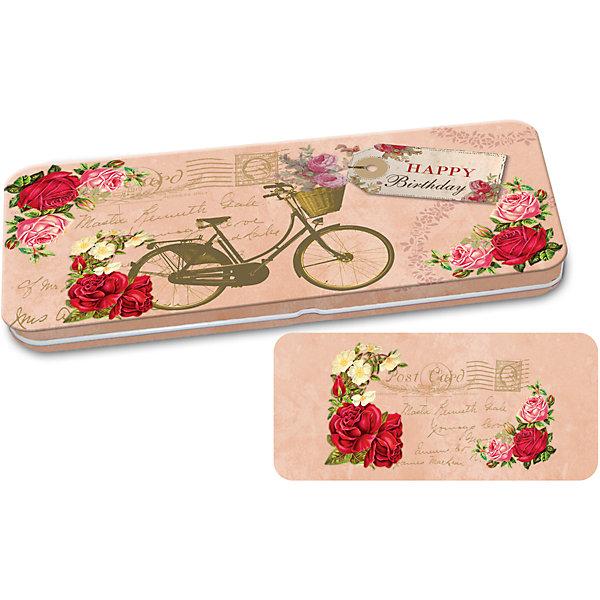 Конверт подарочный металлический для денег Велосипед, Феникс-ПрезентДетские предметы интерьера<br>Конверт подарочный металлический для денег Велосипед, Феникс-Презент<br><br>Характеристики:<br><br>• сделает денежный подарок запоминающимся<br>• яркий дизайн<br>• тип застежки: защелка<br>• размер: 16,6х7,6х1 см<br>• материал: металл<br><br>Металлический подарочный конверт с ярким дизайном придаст подарку оригинальности. Такой замечательный подарок получатель запомнит надолго! Конверт изготовлен из окрашенного металла и оформлен ярким изображением велосипеда на фоне цветов и надписью Happy birthday. Этот конверт идеально подойдет для подарка на день рождения!<br><br>Конверт подарочный металлический для денег Велосипед, Феникс-Презент вы можете купить в нашем интернет-магазине.<br><br>Ширина мм: 166<br>Глубина мм: 76<br>Высота мм: 10<br>Вес г: 560<br>Возраст от месяцев: 36<br>Возраст до месяцев: 2147483647<br>Пол: Унисекс<br>Возраст: Детский<br>SKU: 5449629