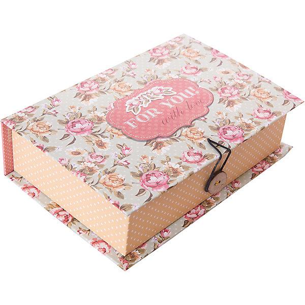 Коробка подарочная Прованс, Феникс-ПрезентДетские подарочные коробки<br>Коробка подарочная Прованс, Феникс-Презент<br><br>Характеристики:<br><br>• яркий дизайн<br>• застегивается на пуговицу<br>• рисунок с внутренней и наружной стороны<br>• изготовлена из мелованного, ламинированного негофрированного картона<br>• плотность: 1100 г/м2<br>• размер: 18х12х5 см<br><br>Красивая подарочная коробка - отличное дополнение к подарку. Подарочная коробка Прованс изготовлена из плотного ламинированного картона, декорированного цветочным узором и надписью For you with love. Застегивается на пуговицу. Подарочная коробка сделает подарок еще эффектнее!<br><br>Коробку подарочную Прованс, Феникс-Презент вы можете купить в нашем интернет-магазине.<br><br>Ширина мм: 180<br>Глубина мм: 120<br>Высота мм: 50<br>Вес г: 113<br>Возраст от месяцев: 36<br>Возраст до месяцев: 2147483647<br>Пол: Унисекс<br>Возраст: Детский<br>SKU: 5449634