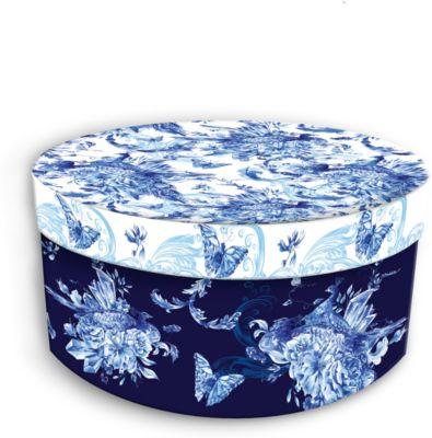 Коробка подарочная Голубые цветы , 14х14х7см., Феникс-Презент