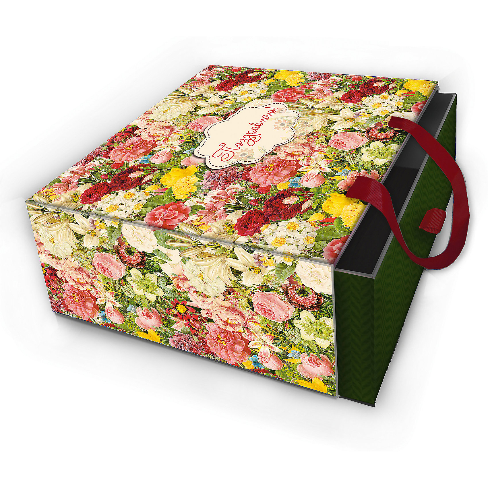 Коробка подарочная Райский сад, 18х18х9,5см., Феникс-ПрезентКоробка подарочная Райский сад, 18х18х9,5см., Феникс-Презент<br><br>Характеристики:<br><br>• оригинальный дизайн<br>• удобные ручки на внешней стороне<br>• петелька на внутренней части<br>• размер: 18х18х9,5 см<br>• материал: ламинированный картон, текстиль<br><br>Если вы хотите добавить подарку оригинальности - используйте необычную подарочную коробку. Коробка Райский сад изготовлена из прочного ламинированного картона. Она состоит из двух частей. Внутренняя часть вставляется в наружную. На внутренней части есть небольшая петелька, с помощью которой получатель с легкостью достанет подарок. Наружная часть имеет две красивые ручки для удобства переноски. Коробка оформлена ярким изображением цветов.<br><br>Коробку подарочную Райский сад, 18х18х9,5см., Феникс-Презент можно купить в нашем интернет-магазине.<br><br>Ширина мм: 180<br>Глубина мм: 180<br>Высота мм: 95<br>Вес г: 243<br>Возраст от месяцев: 36<br>Возраст до месяцев: 2147483647<br>Пол: Унисекс<br>Возраст: Детский<br>SKU: 5449640