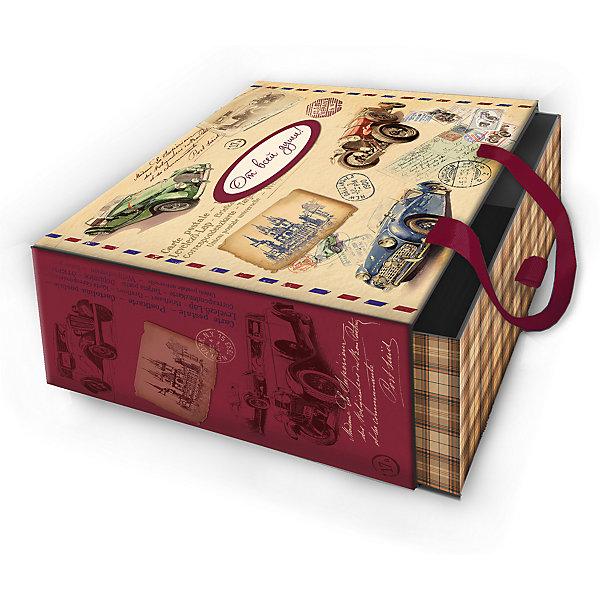 Коробка подарочная Ретро машины, 16х16х8см., Феникс-ПрезентДетские подарочные коробки<br>Коробка подарочная Ретро машины, 16х16х8см., Феникс-Презент<br><br>Характеристики:<br><br>• оригинальный дизайн<br>• удобные ручки на внешней стороне<br>• петелька на внутренней части<br>• размер: 16х16х8 см<br>• материал: ламинированный картон, текстиль<br><br>Если вы хотите добавить подарку оригинальности - используйте необычную подарочную коробку. Коробка Ретро машины изготовлена из прочного ламинированного картона. Она состоит из двух частей. Внутренняя часть вставляется в наружную. На внутренней части есть небольшая петелька, с помощью которой получатель с легкостью достанет подарок. Наружная часть имеет две красивые ручки для удобства переноски. Коробка оформлена изображением ретро автомобилей.<br><br>Коробку подарочную Ретро машины, 16х16х8см., Феникс-Презент можно купить в нашем интернет-магазине.<br><br>Ширина мм: 160<br>Глубина мм: 160<br>Высота мм: 80<br>Вес г: 121<br>Возраст от месяцев: 36<br>Возраст до месяцев: 2147483647<br>Пол: Унисекс<br>Возраст: Детский<br>SKU: 5449644