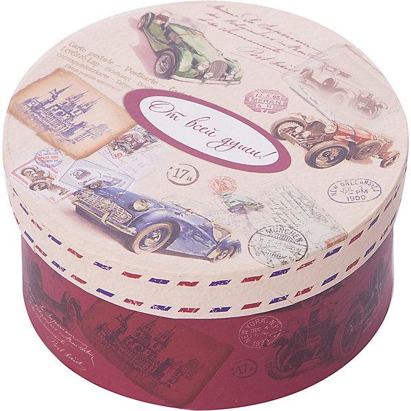 Коробка подарочная Ретро машины, 14х14х7см., Феникс-ПрезентДетские подарочные коробки<br>Коробка подарочная Ретро машины, 14х14х7см., Феникс-Презент<br><br>Характеристики:<br><br>• подарочная коробка с крышкой<br>• оригинальный дизайн<br>• изготовлена из мелованного ламинированного картона<br>• плотность 1100 г/м2<br>• рисунок на внутренней и наружной стороне<br>• размер: 14х14х7 см<br><br>Красивая подарочная коробка подарит массу положительных эмоций и создаст праздничное настроение. Коробка Ретро машины изготовлена из плотного ламинированного картона. Наружная сторона оформлена красочным изображением ретро автомобилей и надписью От всей души!. Изделие имеет круглую форму, закрывается с помощью крышки. Такой подарок не оставит получателя равнодушным!<br><br>Коробка подарочная Ретро машины, 14х14х7см., Феникс-Презент вы можете купить в нашем интернет-магазине.<br><br>Ширина мм: 140<br>Глубина мм: 140<br>Высота мм: 70<br>Вес г: 60<br>Возраст от месяцев: 36<br>Возраст до месяцев: 2147483647<br>Пол: Унисекс<br>Возраст: Детский<br>SKU: 5449645