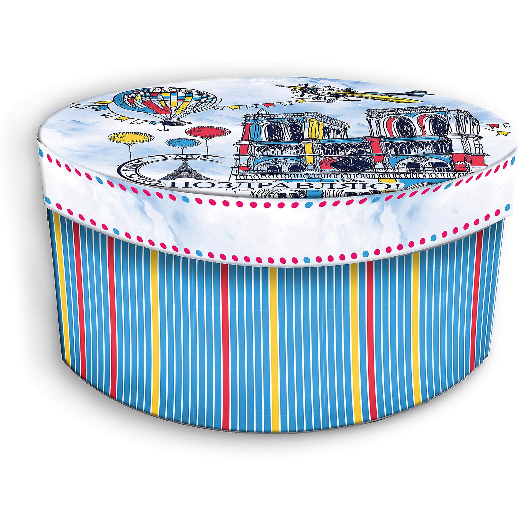 Коробка подарочная Нотр-Дам, Феникс-ПрезентПредметы интерьера<br>Коробка подарочная Нотр-Дам, Феникс-Презент<br><br>Характеристики:<br><br>• подарочная коробка с крышкой<br>• оригинальный дизайн<br>• изготовлена из мелованного ламинированного картона<br>• плотность 1100 г/м2<br>• рисунок на внутренней и наружной стороне<br>• размер: 14х14х7 см<br><br>Красивая подарочная коробка подарит массу положительных эмоций и создаст праздничное настроение. Коробка Нотр-Дам изготовлена из плотного ламинированного картона. Наружная сторона оформлена ярким изображением известного собора Парижа и надписью Поздравляю!. Изделие имеет круглую форму, закрывается с помощью крышки. Такой подарок не оставит получателя равнодушным!<br><br>Коробка подарочная Нотр-Дам, Феникс-Презент вы можете купить в нашем интернет-магазине.<br><br>Ширина мм: 140<br>Глубина мм: 140<br>Высота мм: 70<br>Вес г: 60<br>Возраст от месяцев: 36<br>Возраст до месяцев: 2147483647<br>Пол: Унисекс<br>Возраст: Детский<br>SKU: 5449646