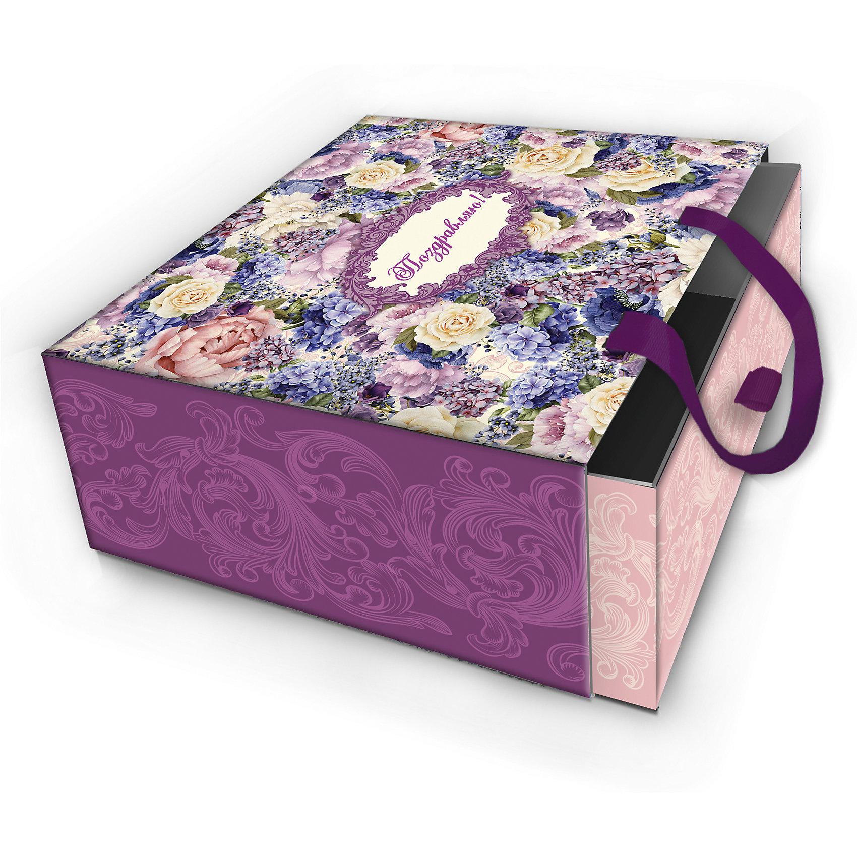 Коробка подарочная Лиловые букеты, 16х16х8см., Феникс-ПрезентПредметы интерьера<br>Коробка подарочная Лиловые букеты, 16х16х8см., Феникс-Презент<br><br>Характеристики:<br><br>• оригинальный дизайн<br>• удобные ручки на внешней стороне<br>• петелька на внутренней части<br>• размер: 16х16х8 см<br>• материал: ламинированный картон, текстиль<br><br>Если вы хотите добавить подарку оригинальности - используйте необычную подарочную коробку. Коробка Лиловые букеты изготовлена из прочного ламинированного картона. Она состоит из двух частей. Внутренняя часть вставляется в наружную. На внутренней части есть небольшая петелька, с помощью которой получатель с легкостью достанет подарок. Наружная часть имеет две красивые ручки для удобства переноски. Коробка оформлена красивым цветочным узором лилового оттенка.<br><br>Коробку подарочную Лиловые букеты, 16х16х8см., Феникс-Презент можно купить в нашем интернет-магазине.<br><br>Ширина мм: 160<br>Глубина мм: 160<br>Высота мм: 80<br>Вес г: 121<br>Возраст от месяцев: 36<br>Возраст до месяцев: 2147483647<br>Пол: Унисекс<br>Возраст: Детский<br>SKU: 5449648