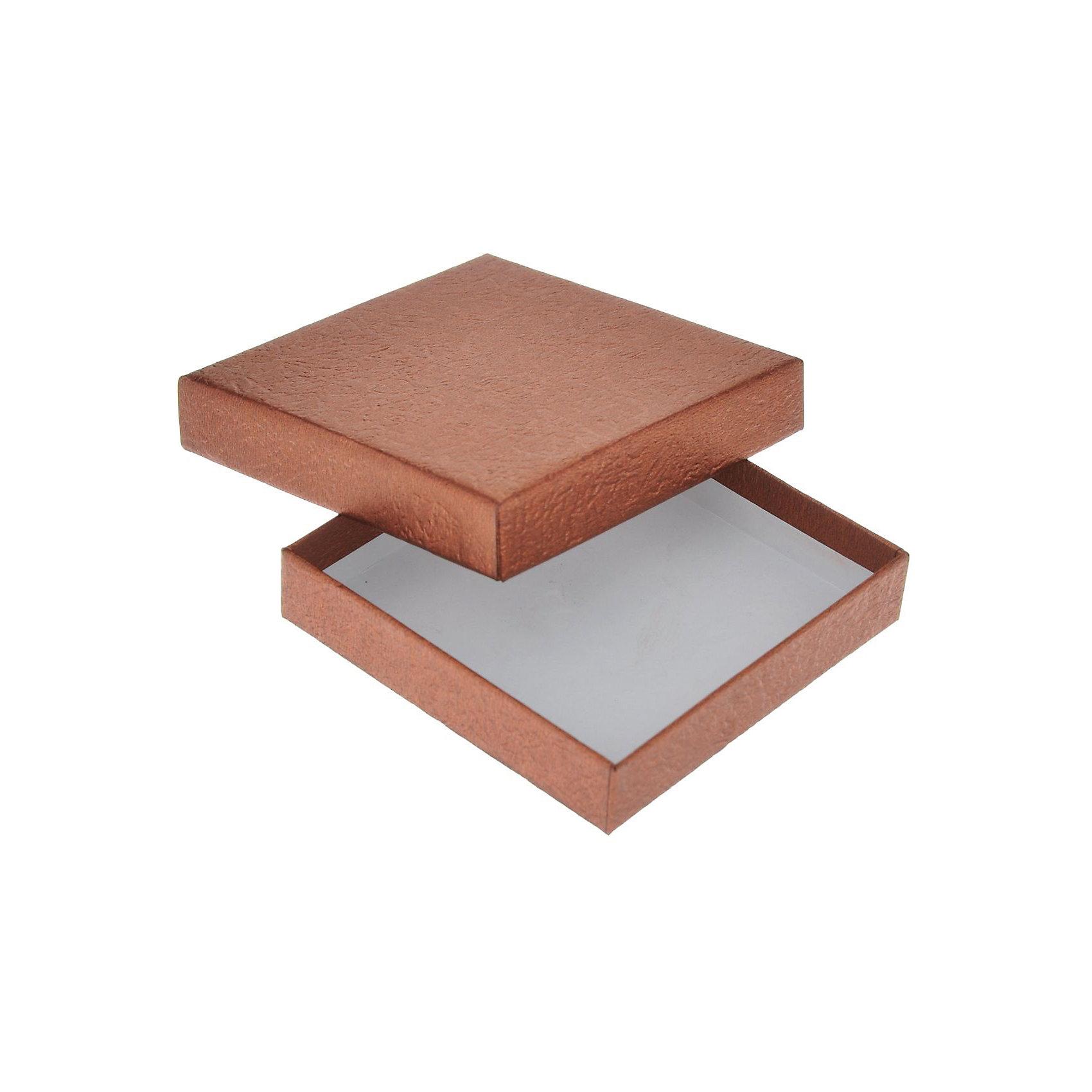 Подарочная коробка БРОНЗОВЫЙ, Феникс-ПрезентПредметы интерьера<br>Подарочная коробка БРОНЗОВЫЙ, Феникс-Презент<br><br>Характеристики:<br><br>• практичная коробка для подарков и хранения<br>• изготовлена из мелованного негофрированного картона<br>• размер: 9х9х2 см<br>• цвет: бронзовый<br><br>Подарочная коробка БРОНЗОВЫЙ очень удобная и практичная. Она отлично подойдет как для упаковки подарка, так и для хранения различных безделушек. Коробка изготовлена из прочного мелованного картона. Такая упаковка поднимет настроение и создаст атмосферу праздника!<br><br>Подарочную коробку БРОНЗОВЫЙ, Феникс-Презент можно купить в нашем интернет-магазине.<br><br>Ширина мм: 90<br>Глубина мм: 90<br>Высота мм: 20<br>Вес г: 250<br>Возраст от месяцев: 36<br>Возраст до месяцев: 2147483647<br>Пол: Унисекс<br>Возраст: Детский<br>SKU: 5449652