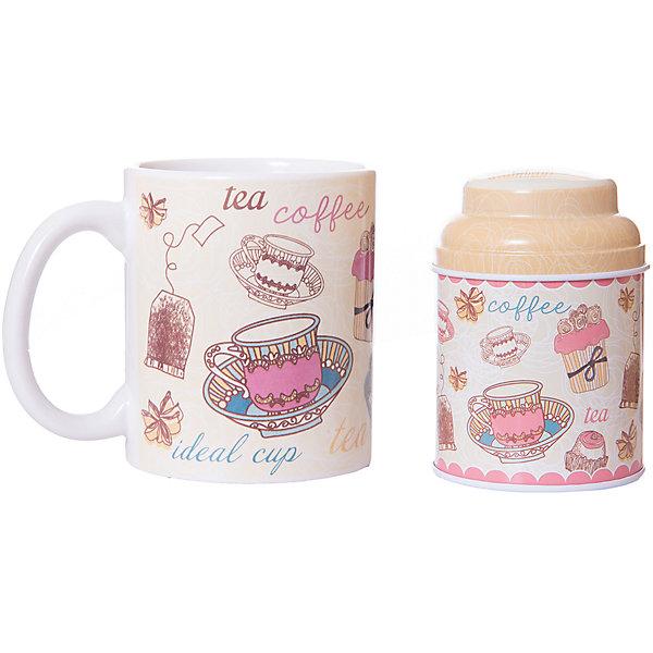 Набор подарочный  Чайное утро, Феникс-ПрезентДетская посуда<br>Набор подарочный Чайное утро, Феникс-Презент<br><br>Характеристики:<br><br>• набор в подарочной упаковке для любителей чая<br>• в комплекте: кружка, баночка для чая<br>• объем кружки: 300 мл<br>• материал кружки: керамика<br>• материал баночки: черный металл<br>• размер коробки: 12х9х11 см<br><br>Любители чая непременно порадуются набору Чайное утро! В комплект входит кружка и баночка для чая. Кружка изготовлена из керамики, а баночка из металла. Оба изделия оформлены изображением чашек, чайных пакетиков, десертов и надписями. Набор представлен в красивой упаковке - вы сможете преподнести его в подарок!<br><br>Набор подарочный Чайное утро, Феникс-Презент вы можете купить в нашем интернет-магазине.<br><br>Ширина мм: 120<br>Глубина мм: 90<br>Высота мм: 110<br>Вес г: 457<br>Возраст от месяцев: 120<br>Возраст до месяцев: 2147483647<br>Пол: Унисекс<br>Возраст: Детский<br>SKU: 5449663