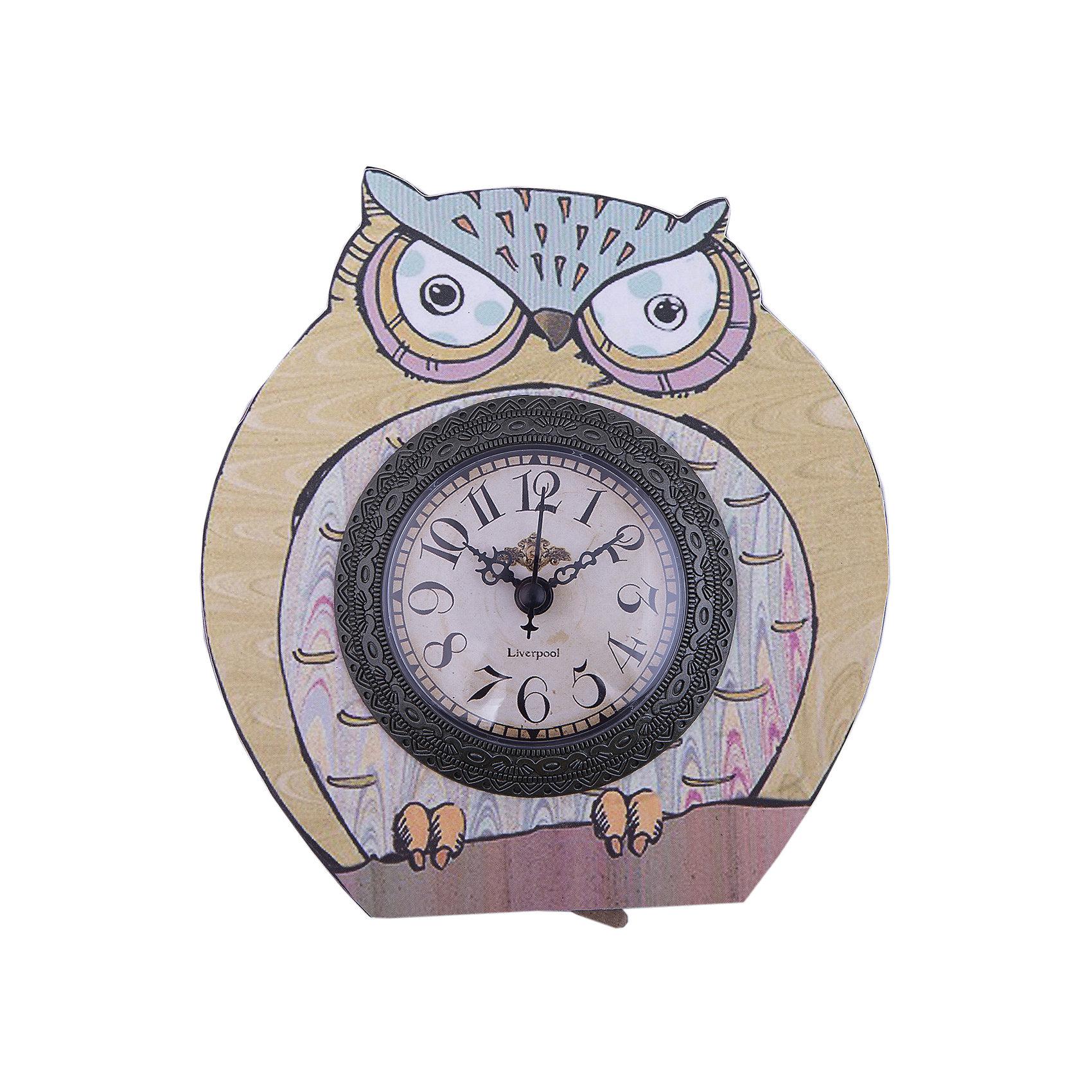 Часы настольные Мудрый филин кварцевые, с циферблатом, Феникс-ПрезентДетские предметы интерьера<br>Часы настольные Мудрый филин кварцевые, с циферблатом, Феникс-Презент<br><br>Характеристики:<br><br>• выполнены в виде филина<br>• яркий рисунок<br>• тип часов: кварцевые<br>• размер: 17х22 см<br>• материал: МДФ<br>• батарейки: АА - 1 шт. (не входит в комплект)<br><br>Мудрый филин - настольные часы от Феникс-Презент. Они изготовлены из экологически чистых материалов и выполнены в виде филина. На циферблате расположены 3 стрелки: минутная, часовая и секундная. Часы станут приятным дополнением к интерьеру комнаты.<br><br>Часы настольные Мудрый филин кварцевые, с циферблатом, Феникс-Презент можно купить в нашем интернет-магазине.<br><br>Ширина мм: 170<br>Глубина мм: 220<br>Высота мм: 170<br>Вес г: 183<br>Возраст от месяцев: 120<br>Возраст до месяцев: 2147483647<br>Пол: Унисекс<br>Возраст: Детский<br>SKU: 5449701