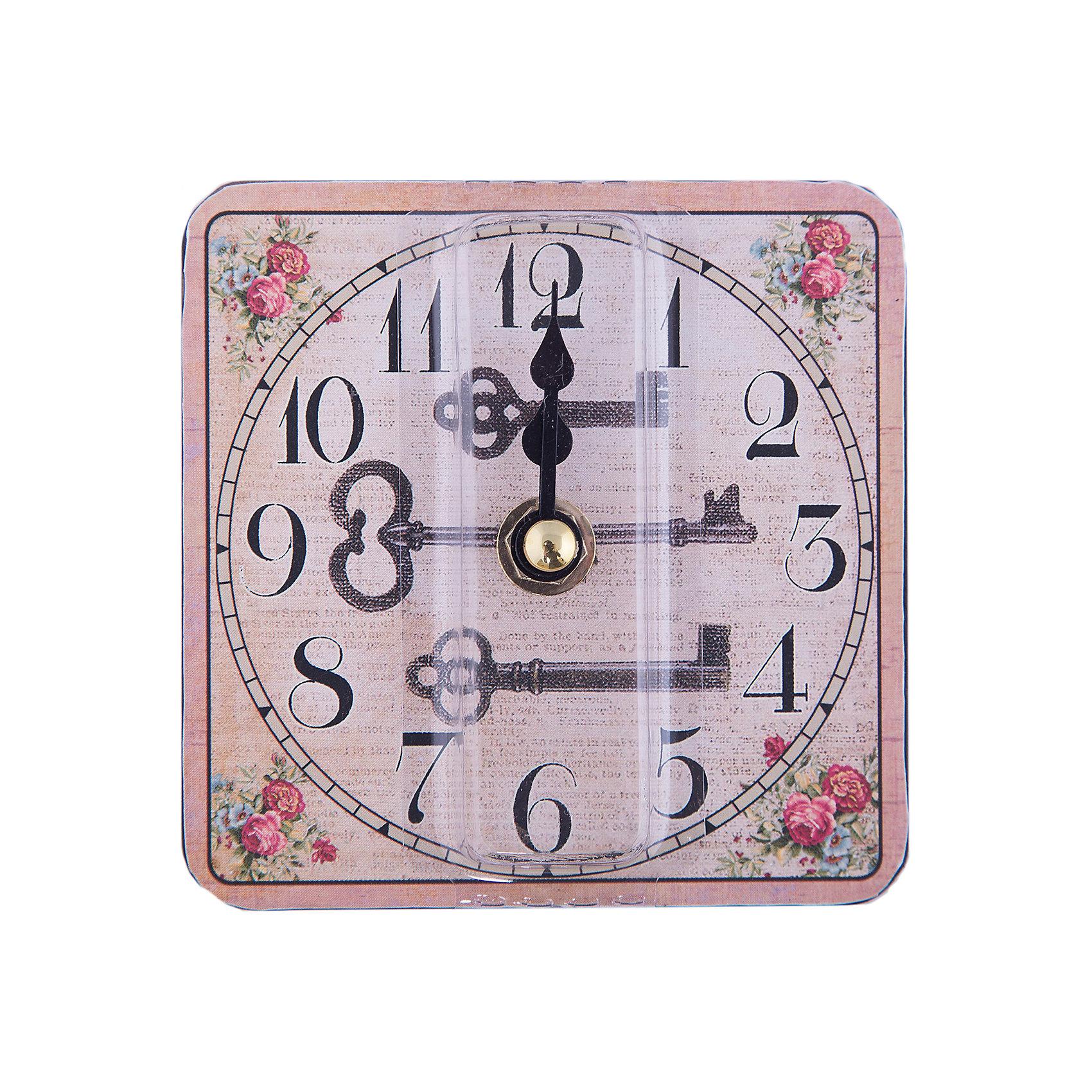 Часы настольные Волшебный ключик кварцевые, с циферблатом, Феникс-ПрезентДетские предметы интерьера<br>Часы настольные Волшебный ключик кварцевые, с циферблатом, Феникс-Презент<br><br>Характеристики:<br><br>• яркий рисунок<br>• тип часов: кварцевые<br>• размер: 10х10 см<br>• материал: МДФ<br>• батарейки: АА - 1 шт. (не входит в комплект)<br><br>Настольные часы Волшебный ключик всегда подскажут вам точное время, а также украсят интерьер комнаты. Часы изготовлены из МДФ. Циферблат оформлен красивым рисунком с изображением ключей. На часах расположены две стрелки - минутная и часовая. Сзади располагается надежная подставка для стола.<br><br>Часы настольные Волшебный ключик кварцевые, с циферблатом, Феникс-Презент вы можете купить в нашем интернет-магазине.<br><br>Ширина мм: 100<br>Глубина мм: 100<br>Высота мм: 100<br>Вес г: 177<br>Возраст от месяцев: 120<br>Возраст до месяцев: 2147483647<br>Пол: Унисекс<br>Возраст: Детский<br>SKU: 5449703