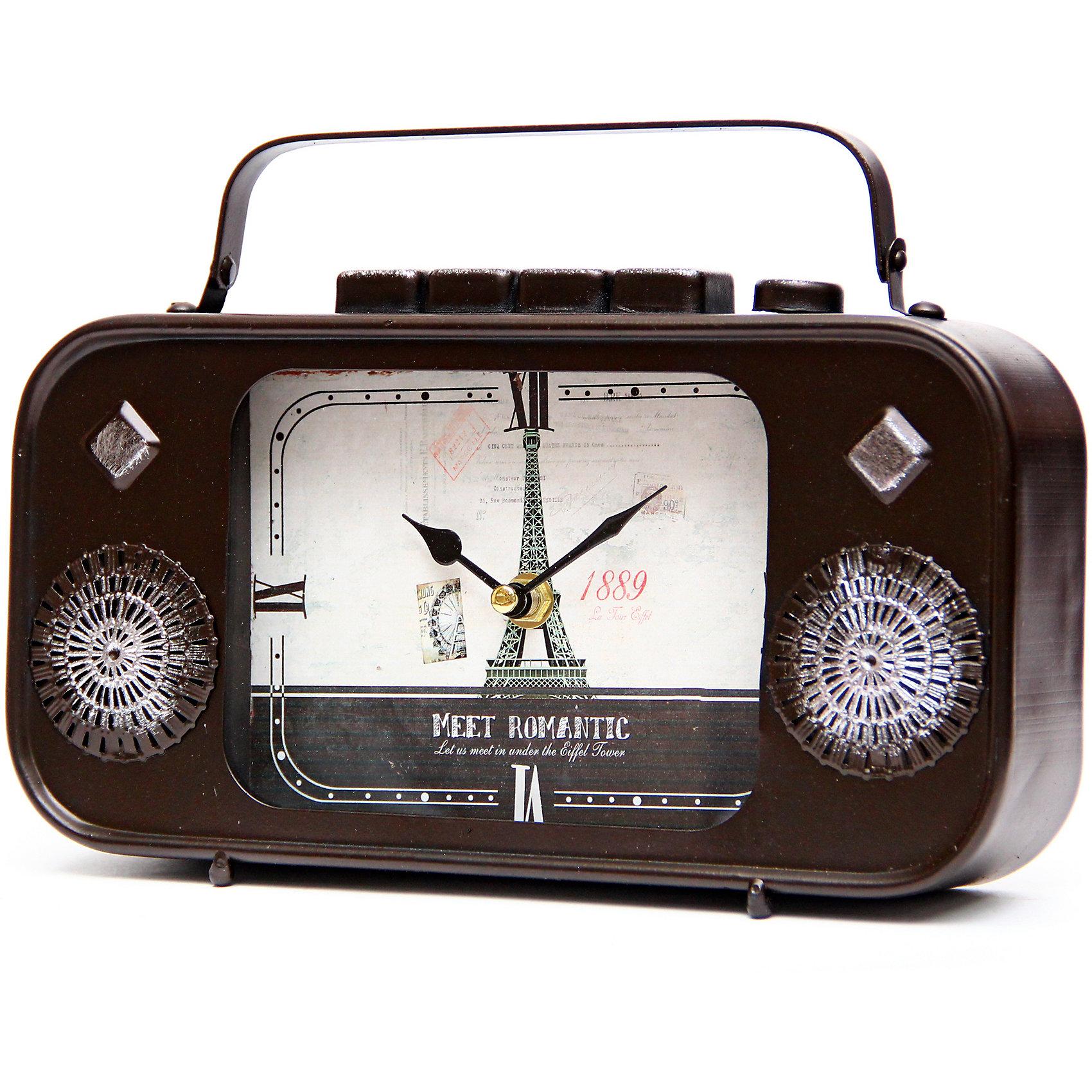 Часы Радио настольные кварцевые, Феникс-ПрезентЧасы Радио настольные кварцевые, Феникс-Презент<br><br>Характеристики:<br><br>• оригинальный дизайн в виде радио<br>• тип часов: кварцевые<br>• размер: 27,5х5,5х18 см<br>• материал: металл<br>• материал циферблата: металл с покрытием из принтованной бумаги<br>• батарейки: АА - 1 шт. (не входит в комплект)<br><br>Часы Радио изготовлены из качественного металла, циферблат покрыт принтованной бумагой. Часы выполнены в виде старинного радио. Они отлично дополнят интерьер комнаты, подчеркивая стиль владельца.<br><br>Часы Радио настольные кварцевые, Феникс-Презент можно купить в нашем интернет-магазине.<br><br>Ширина мм: 280<br>Глубина мм: 60<br>Высота мм: 180<br>Вес г: 883<br>Возраст от месяцев: 120<br>Возраст до месяцев: 2147483647<br>Пол: Унисекс<br>Возраст: Детский<br>SKU: 5449709