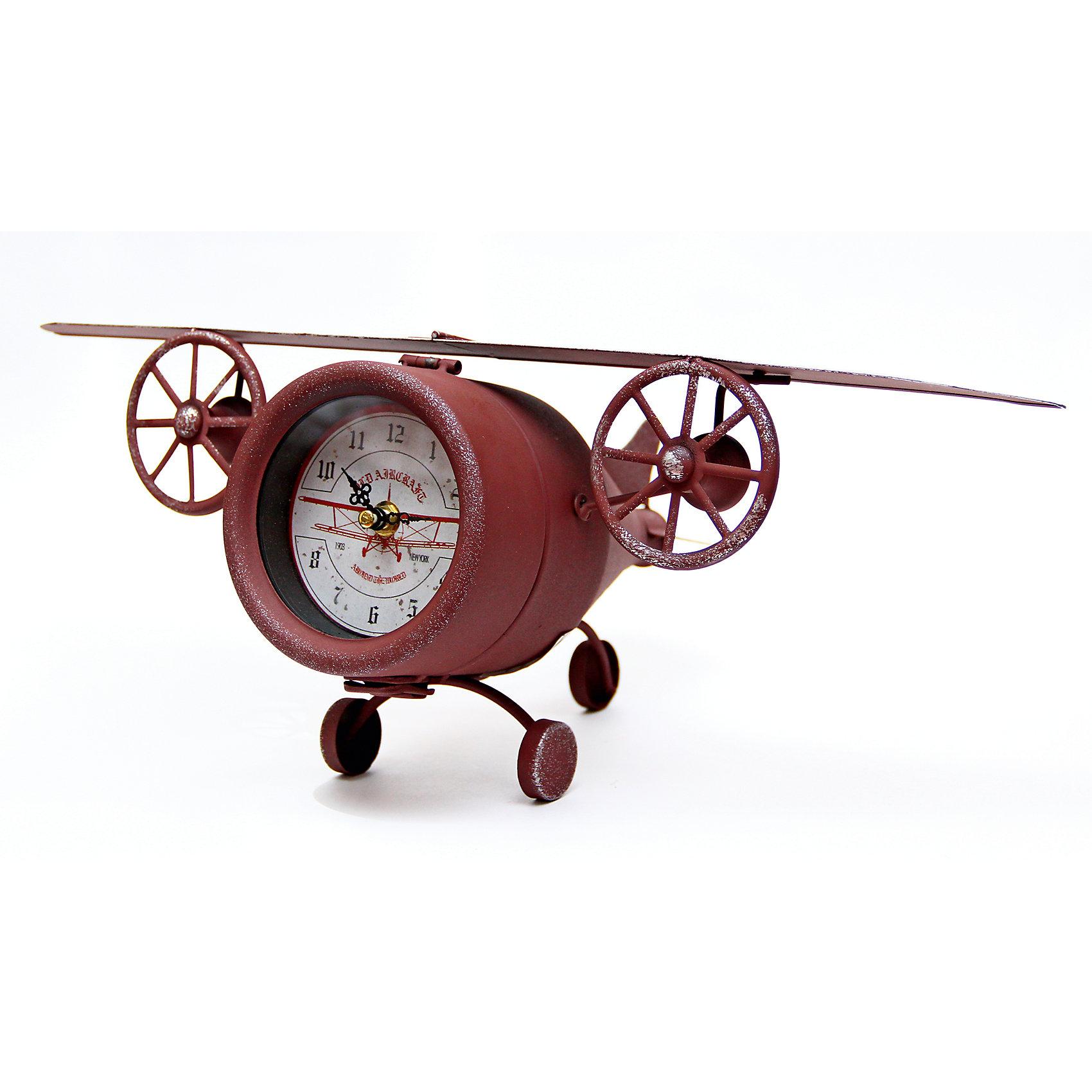 Часы Самолет настольные кварцевые, Феникс-ПрезентПредметы интерьера<br>Часы Самолет настольные кварцевые, Феникс-Презент<br><br>Характеристики:<br><br>• оригинальный дизайн в виде самолета<br>• тип часов: кварцевые<br>• размер: 48х25х14 см<br>• материал: металл<br>• материал циферблата: металл с покрытием из принтованной бумаги<br>• батарейки: АА - 1 шт. (не входит в комплект)<br><br>Настольные кварцевые часы в виде самолета станут отличным подарком ценителю оригинальных аксессуаров. Часы покажут точное время и сделают интерьер комнаты еще привлекательнее. Корпус изготовлен из металла, а циферблат дополнен покрытием из принтованной бумаги.<br><br>Часы Самолет настольные кварцевые, Феникс-Презент можно купить в нашем интернет-магазине.<br><br>Ширина мм: 480<br>Глубина мм: 250<br>Высота мм: 170<br>Вес г: 817<br>Возраст от месяцев: 120<br>Возраст до месяцев: 2147483647<br>Пол: Унисекс<br>Возраст: Детский<br>SKU: 5449710