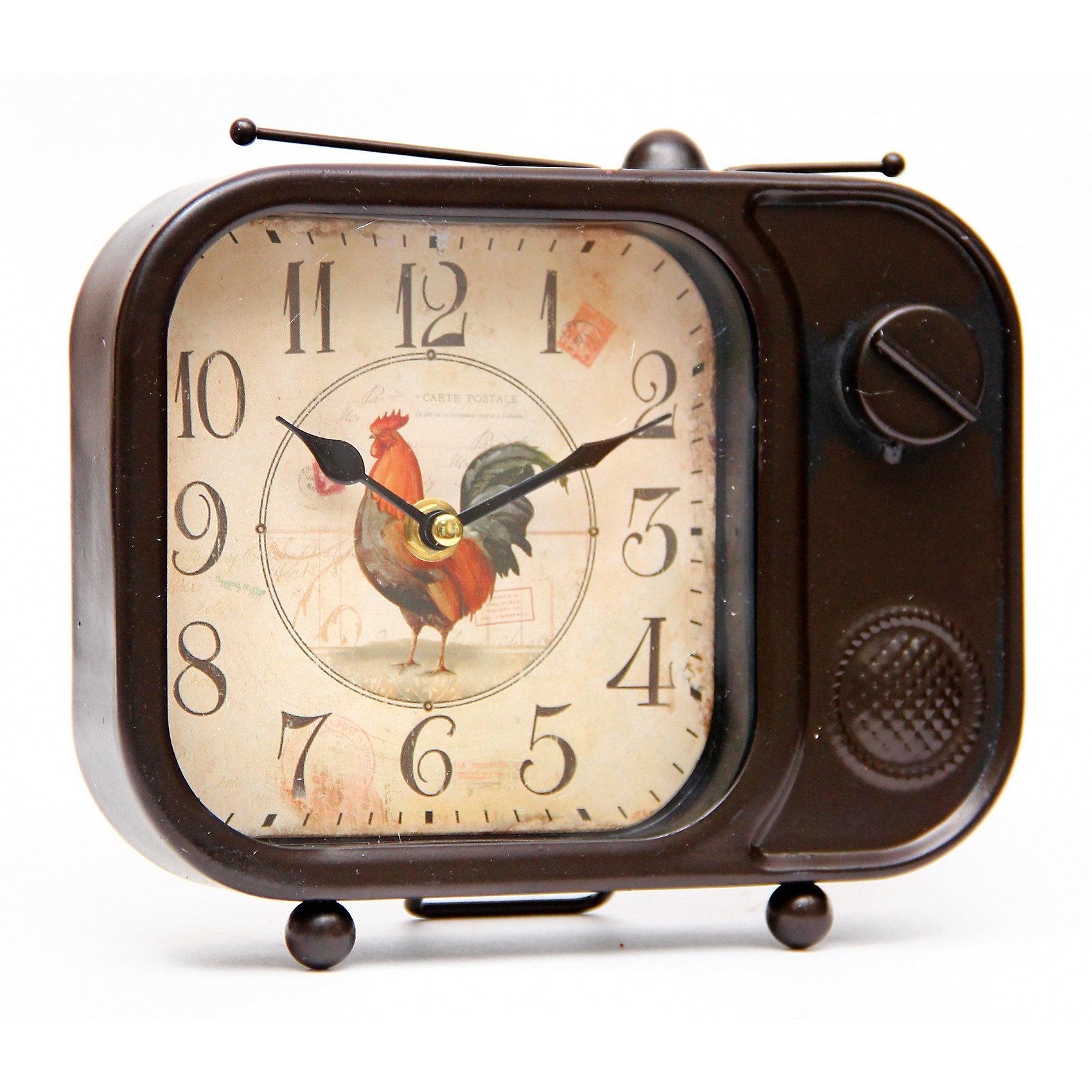 Часы Телевизор настольные кварцевые, Феникс-ПрезентПредметы интерьера<br>Часы Телевизор настольные кварцевые, Феникс-Презент<br><br>Характеристики:<br><br>• оригинальный дизайн в виде телевизора<br>• тип часов: кварцевые<br>• размер: 21х5х19 см<br>• материал: металл<br>• материал циферблата: металл с покрытием из принтованной бумаги<br>• батарейки: АА - 1 шт. (не входит в комплект)<br><br>Часы Телевизор - настоящий подарок для любителей интересных аксессуаров в стиле ретро. Часы изготовлены из металла и выполнены в виде старинного телевизора. Циферблат часов покрыт принтованной бумагой. Для работы необходима батарейка АА (не входит в комплект).<br><br>Часы Телевизор настольные кварцевые, Феникс-Презент можно купить в нашем интернет-магазине.<br><br>Ширина мм: 210<br>Глубина мм: 50<br>Высота мм: 190<br>Вес г: 667<br>Возраст от месяцев: 120<br>Возраст до месяцев: 2147483647<br>Пол: Унисекс<br>Возраст: Детский<br>SKU: 5449711