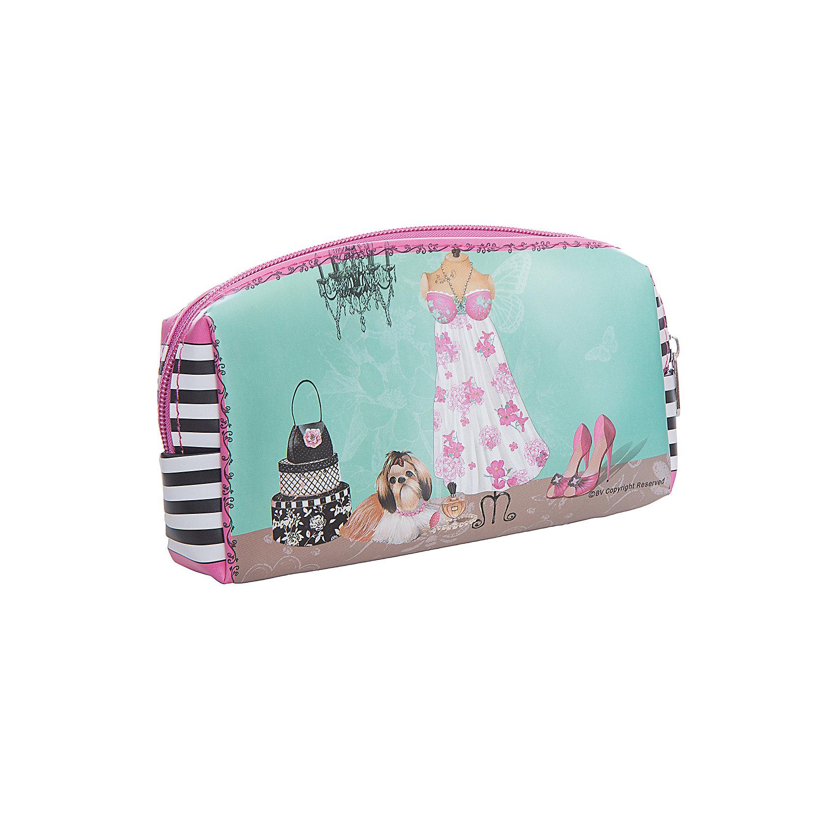 Сумочка для косметики, Феникс-ПрезентСумочка для косметики, лицевая поверхность-нейлон, подкладка -ПВХ.                          Сохранит вашу косметику, кисти для макияжа и украшения. Они всегда будут под рукой! Косметичка очень компактная и легкая, ее удобно возить с собой в поездки или носить в сумке в качестве повседневного помощника! Создана из очень прочной ткани: износостойкий и водонепроницаемый материал! А оригинальный  дизайн всегда будет радовать вас, где бы вы не находились!<br><br>Ширина мм: 180<br>Глубина мм: 50<br>Высота мм: 90<br>Вес г: 76<br>Возраст от месяцев: 36<br>Возраст до месяцев: 2147483647<br>Пол: Женский<br>Возраст: Детский<br>SKU: 5449742