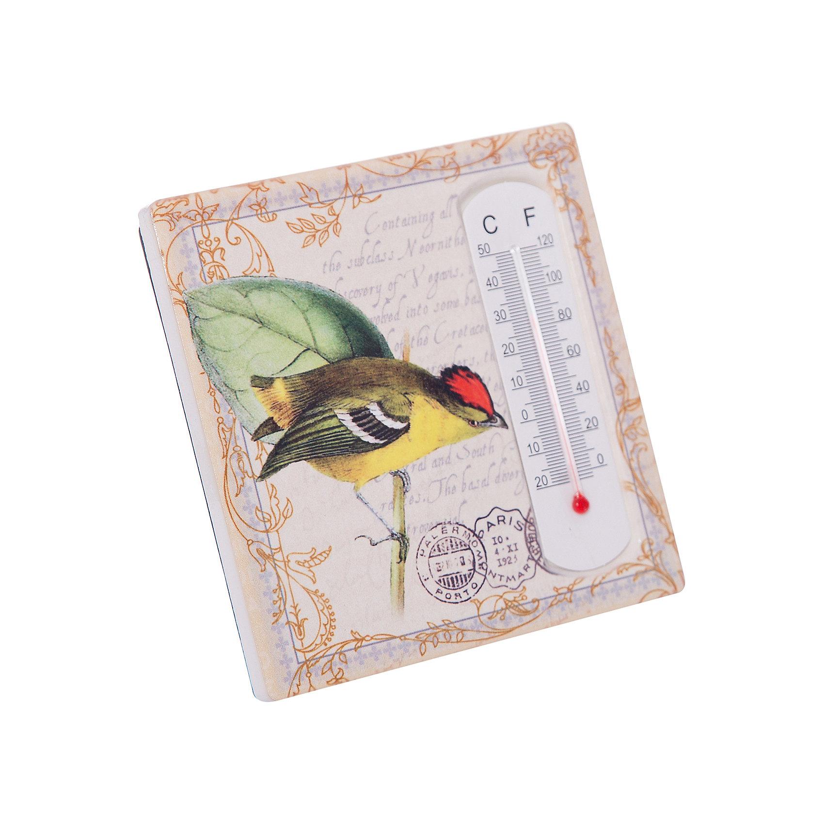 Термометр декоративный, в корпусе из доломитовой керамики, Феникс-ПрезентТермометры<br>Термометр декоративный, жидкостный, бытовой в корпусе из доломитовой керамики, Феникс-Презент<br><br>Характеристики:<br><br>• красивое оформление<br>• есть отверстие для подвешивания<br>• размер: 10х10 см<br>• материал корпуса: доломитовая керамика<br><br>Декоративный термометр не только подскажет вам температуру в доме, но и украсит интерьер комнаты. Корпус выполнен из доломитовой керамики. Наружная часть термометра оформлена красивым узором и изображением птички. Есть специальное отверстие для подвешивания. Размер термометра - 10х10 сантиметров.<br><br>Термометр декоративный, жидкостный, бытовой в корпусе из доломитовой керамики, Феникс-Презент можно купить в нашем интернет-магазине.<br><br>Ширина мм: 100<br>Глубина мм: 100<br>Высота мм: 10<br>Вес г: 128<br>Возраст от месяцев: 168<br>Возраст до месяцев: 2147483647<br>Пол: Унисекс<br>Возраст: Детский<br>SKU: 5449752