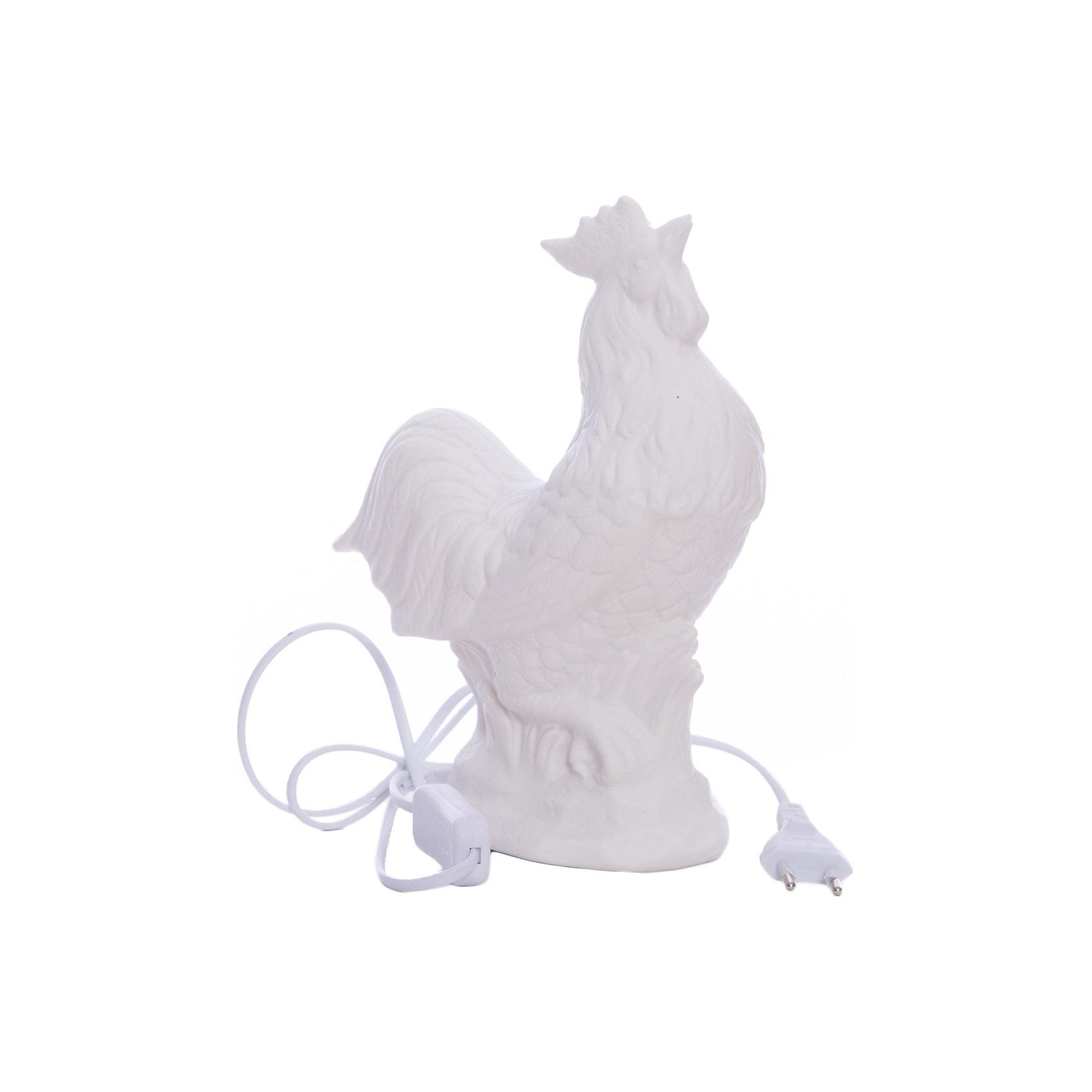 Лампа настольная Петух, электрическая из фарфора, Феникс-ПрезентЛампы, ночники, фонарики<br>Лампа настольная Курица, электрическая из фарфора, Феникс-Презент<br><br>Характеристики:<br><br>• красивый светильник в форме петуха<br>• лампа накаливания 220-250 В, 50 Гц<br>• материал: фарфор<br>• размер: 18,5х8,5х25 см<br><br>Настольная лампа в форме петуха займет достойное место в интерьере вашей комнаты! Она наполнит комнату мягким светом и создаст атмосферу уюта и гармонии. Кроме того, вы сможете преподнести эту лампу в подарок - получатель точно будет рад! Лампа изготовлена из качественного фарфора. Размер лампы - 18,5х8,5х25 сантиметров.<br><br>Лампу настольную Курица, электрическую из фарфора, Феникс-Презент вы можете купить в нашем интернет-магазине.<br><br>Ширина мм: 580<br>Глубина мм: 440<br>Высота мм: 480<br>Вес г: 11600<br>Возраст от месяцев: 120<br>Возраст до месяцев: 2147483647<br>Пол: Унисекс<br>Возраст: Детский<br>SKU: 5449762