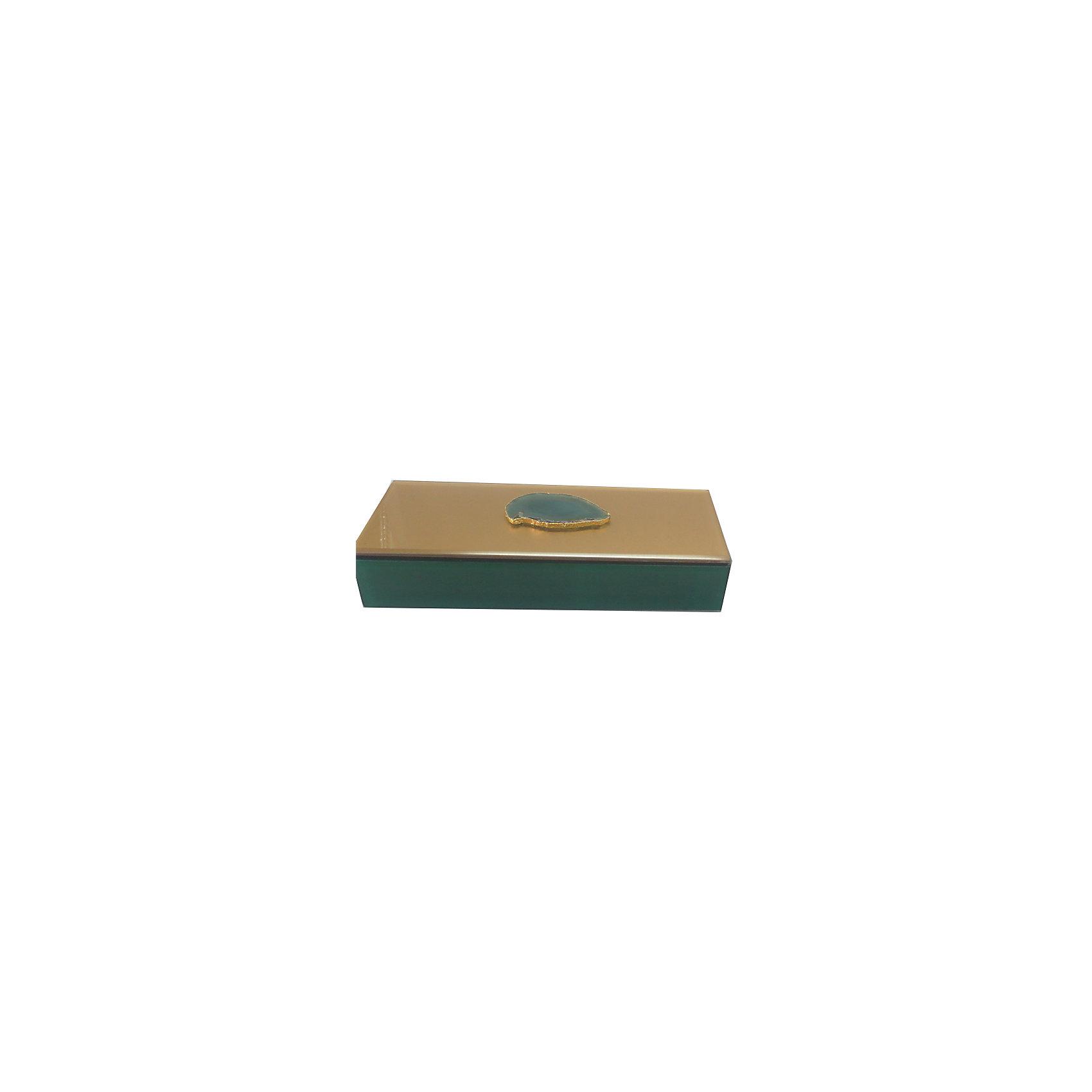 Шкатулка Дымчато-зеленый агат из стекла для мелочей, Феникс-ПрезентПредметы интерьера<br>Шкатулка Дымчато-зеленый агат из стекла для мелочей, Феникс-Презент<br><br>Характеристики:<br><br>• расцветка под агат<br>• размер: 24,5х9,5х4,5 см<br>• материал: стекло<br><br>Шкатулка Дымчато-зеленый агат украсит интерьер комнаты и позволит вам хранить различные мелочи и безделушки в одном месте. Шкатулка надежно закрывается крышкой. Приятная расцветка шкатулки всегда будет радовать глаз!<br><br>Шкатулку Дымчато-зеленый агат из стекла для мелочей, Феникс-Презент можно купить в нашем интернет-магазине.<br><br>Ширина мм: 245<br>Глубина мм: 95<br>Высота мм: 45<br>Вес г: 583<br>Возраст от месяцев: 60<br>Возраст до месяцев: 2147483647<br>Пол: Унисекс<br>Возраст: Детский<br>SKU: 5449771
