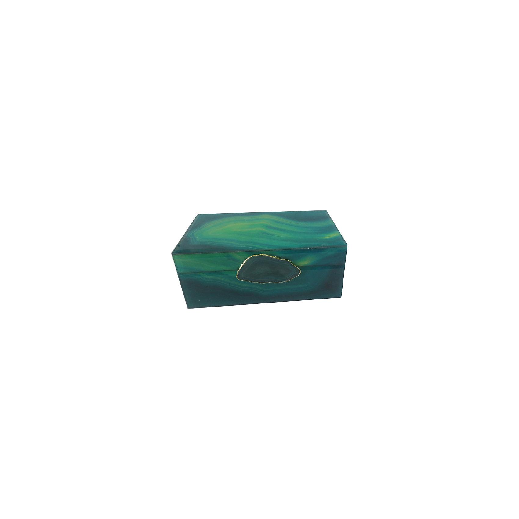 Шкатулка Зеленый агат из стекла для мелочей, Феникс-ПрезентПредметы интерьера<br>Шкатулка Зеленый агат из стекла для мелочей, Феникс-Презент<br><br>Характеристики:<br><br>• расцветка под агат<br>• размер: 21х13х8 см<br>• материал: стекло<br><br>Шкатулка Зеленый агат отлично подойдет для хранения различных мелочей и безделушек. Шкатулка надежно закрывается крышкой для защиты ваших вещей. Приятная расцветка под агат украсит интерьер любого помещения.<br><br>Шкатулку Зеленый агат из стекла для мелочей, Феникс-Презент можно купить в нашем интернет-магазине.<br><br>Ширина мм: 210<br>Глубина мм: 130<br>Высота мм: 80<br>Вес г: 938<br>Возраст от месяцев: 60<br>Возраст до месяцев: 2147483647<br>Пол: Унисекс<br>Возраст: Детский<br>SKU: 5449774