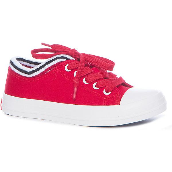 Кеды для девочки KEDDO, красныйКеды<br>Характеристики товара:<br><br>• цвет: красный<br>• материал верха: текстиль<br>• стелька: текстиль<br>• подошва: резина<br>• сезон: демисезон<br>• спортивный стиль<br>• температурный режим: от +10°до +20°С<br>• застежка: шнурки<br>• легкие<br>• коллекция: весна-лето 2017<br>• страна бренда: Великобритания<br>• страна производства: Китай<br><br>Стильные легкие кеды удобно сидят на ноге и позволяют ногам дышать. <br><br>Обувь от известного бренда KEDDO (Кеддо) уже завоевала популярность у взрослых и детей в нашей стране. <br><br>Модели этой марки - неизменно стильные и удобные, их дизайн отличается оригинальностью и продуманностью. <br><br>Порадуйте ребенка комфортными и современными вещами от KEDDO! <br><br>Кеды для девочки от британского бренда KEDDO (Кеддо) можно купить в нашем интернет-магазине.<br>Ширина мм: 250; Глубина мм: 150; Высота мм: 150; Вес г: 250; Цвет: красный; Возраст от месяцев: 132; Возраст до месяцев: 144; Пол: Женский; Возраст: Детский; Размер: 35,33,38,37,36,34; SKU: 5450067;