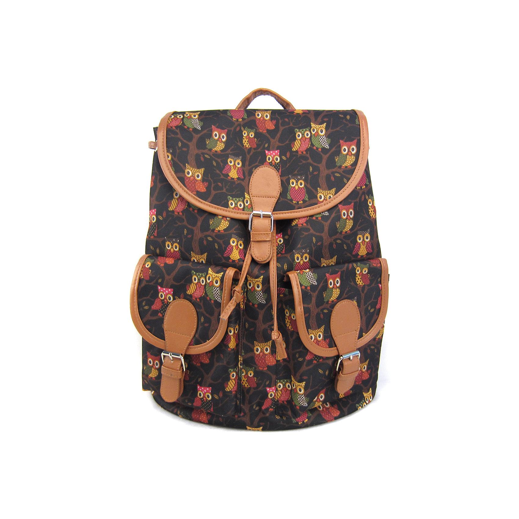 Рюкзак Филины с 2-мя карманами, цвет черныйРюкзаки<br>Совы в этом сезоне – как никогда популярны! Эта умная и благородная птица – еще и очень милая! Поэтому она нравится абсолютно всем! Удобный, прочный, вместительный и стильный рюкзак от бренда Creative LLC – это отличный способ отдать дань «совиной» моде.<br><br>Ширина мм: 390<br>Глубина мм: 350<br>Высота мм: 170<br>Вес г: 470<br>Возраст от месяцев: 72<br>Возраст до месяцев: 2147483647<br>Пол: Унисекс<br>Возраст: Детский<br>SKU: 5450165