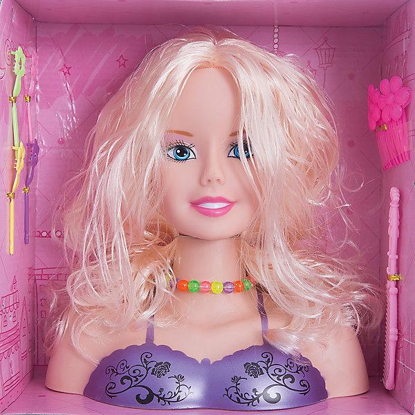 Набор стилиста Принцесса с аксессуарами, блондинка, Shantou GepaiСалон красоты<br>Набор стилиста Принцесса с аксессуарами, блондинка, Shantou Gepai.<br><br>Характеристики:<br><br>• В наборе: кукла-манекен (бюст), аксессуарами<br>• Материал: пластик, текстиль<br>• Упаковка: картонная коробка блистерного типа<br>• Размер упаковки: 26х12х26 см.<br><br>Замечательный набор стилиста Принцесса содержит манекен и аксессуары. Манекен представляет собой бюст очаровательной куклы с шикарными длинными волосами, которые девочки могут расчесывать, укладывать их и придумывать с ними различные стильные прически. Игра с таким набором будет интересной, ведь практически каждая девочка мечтает научиться делать прически и придумывать различные модные образы.<br><br>Набор стилиста Принцесса с аксессуарами, блондинка, Shantou Gepai можно купить в нашем интернет-магазине.<br>Ширина мм: 260; Глубина мм: 120; Высота мм: 270; Вес г: 631; Возраст от месяцев: 36; Возраст до месяцев: 2147483647; Пол: Женский; Возраст: Детский; SKU: 5450229;