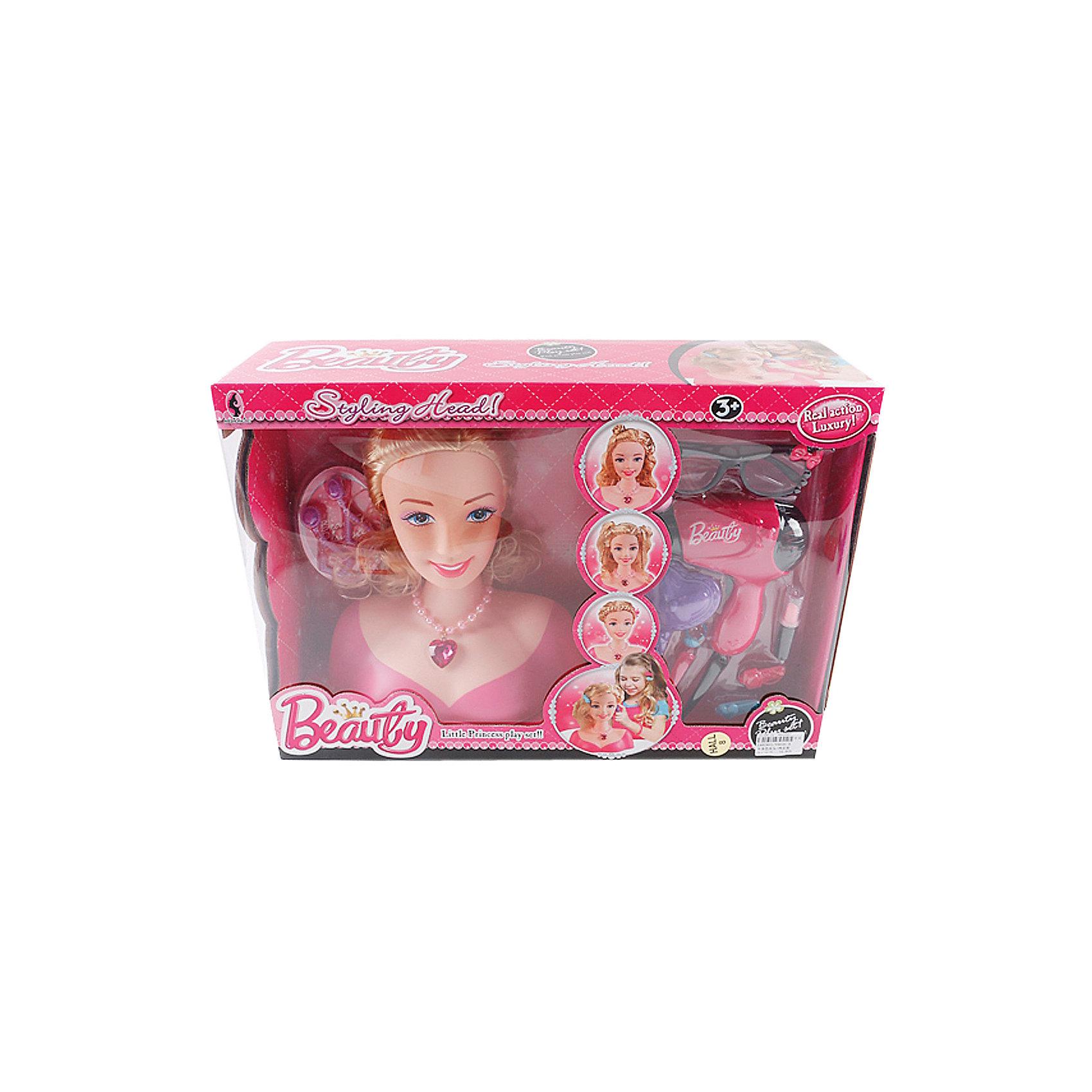 Набор стилиста с аксессуарами и феном, Shantou GepaiСюжетно-ролевые игры<br>Набор стилиста с аксессуарами и феном, Shantou Gepai.<br><br>Характеристики:<br><br>• В наборе: кукла-манекен (бюст), фен, аксессуары<br>• Материал: пластик, текстиль<br>• Упаковка: картонная коробка блистерного типа<br>• Размер упаковки: 46х13х23 см.<br><br>Игровой набор позволит девочке не только вообразить себя модным стилистом, но и освоить некоторое профессиональные навыки и приемы. Для этой цели комплект включает в себя специальный игрушечный бюст молодой девушки с густыми волосами. С помощью дополнительных аксессуаров и различных парикмахерских инструментов можно будет увлекательно экспериментировать, придумывая и создавая оригинальные прически и новые прекрасные образы.<br><br>Набор стилиста с аксессуарами и феном, Shantou Gepai можно купить в нашем интернет-магазине.<br><br>Ширина мм: 460<br>Глубина мм: 135<br>Высота мм: 330<br>Вес г: 1317<br>Возраст от месяцев: 36<br>Возраст до месяцев: 2147483647<br>Пол: Женский<br>Возраст: Детский<br>SKU: 5450231