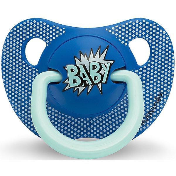 Пустышка силиконовая  BABY Baby Art, 0-6 мес., Suavinex, синийПустышки<br>Характеристики:<br><br>• Наименование: пустышка<br>• Рекомендуемый возраст: от 0 и до 6 месяцев<br>• Пол: для мальчика<br>• Материал: силикон, пластик<br>• Цвет: синий<br>• Рисунок: горошинки<br>• Форма: анатомическая<br>• Наличие вентиляционных отверстий <br>• Кольцо для держателя<br>• Вес: 27 г<br>• Параметры (Д*Ш*В): 5,4*6,5*10,9 см <br>• Особенности ухода: можно мыть в теплой воде, регулярная стерилизация <br><br>Пустышка BABY от 0 до 6мес Baby Art, Suavinex, синий изготовлена испанским торговым брендом, специализирующимся на выпуске товаров для кормления и аксессуаров новорожденным и младенцам. Продукция от Suavinex разработана с учетом рекомендаций педиатров и стоматологов, что гарантирует качество и безопасность использованных материалов. <br><br>Пластик, из которого изготовлено изделие, устойчив к появлению царапин и сколов, благодаря чему пустышка длительное время сохраняет свои гигиенические свойства. Форма у соски способствует равномерному распределению давления на небо, что обеспечивает правильное формирование речевого аппарата. <br><br>Пустышка имеет анатомическую форму, для прикрепления держателя предусмотрено кольцо. Изделие выполнено в брендовом дизайне, надпись BABY нанесена по инновационной технологии, которая обеспечивает стойкость рисунка даже при длительном использовании и частой стерилизации.<br><br>Пустышку BABY от 0 до 6мес Baby Art, Suavinex, синий можно купить в нашем интернет-магазине.<br><br>Ширина мм: 54<br>Глубина мм: 65<br>Высота мм: 109<br>Вес г: 27<br>Возраст от месяцев: 0<br>Возраст до месяцев: 6<br>Пол: Мужской<br>Возраст: Детский<br>SKU: 5451241