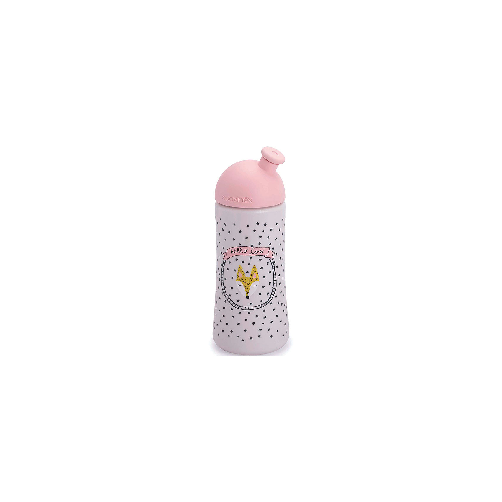 Бутылка 360мл от 18 мес. FOX, Suavinex, розовый/белыйБутылочки и аксессуары<br>Характеристики:<br><br>• Наименование: питьевая бутылка <br>• Рекомендуемый возраст: от 18 месяцев<br>• Пол: для девочки<br>• Объем: 360 мл<br>• Материал: силикон, пластик<br>• Цвет: розовый, белый, оранжевый<br>• Рисунок: лиса, горошинки<br>• Комплектация: бутылочка, колпачок<br>• Наличие выдвижного носика<br>• Вес: 108 г<br>• Параметры (Д*Ш*В): 7*7*17,3 см <br>• Особенности ухода: регулярная стерилизация и своевременная замена<br><br>Бутылка 360 мл от 18 мес. FOX, Suavinex, розовый/белый изготовлена испанским торговым брендом, специализирующимся на выпуске товаров для кормления новорожденных и младенцев. Продукция от Suavinex разработана с учетом рекомендаций педиатров и стоматологов, что гарантирует не только качество и безопасность использованных материалов, но и обеспечивает правильное формирование неба. <br><br>Бутылочка выполнена с выдвигающимся носиком. Ее удобно использовать для прогулок, занятий спортом или в качестве промежуточного этапа перехода от бутылочки к кружке. <br><br>Бутылка 360 мл от 18 мес. FOX, Suavinex, бирюза/белый выполнена в брендовом дизайне с изображением лисенка и горошинок. Рисунок устойчив к появлениям царапин и выгоранию цвета даже при частой стерилизации. <br><br>Бутылку 360 мл от 18 мес. FOX, Suavinex, розовый/белый можно купить в нашем интернет-магазине.<br><br>Ширина мм: 70<br>Глубина мм: 70<br>Высота мм: 200<br>Вес г: 108<br>Возраст от месяцев: 18<br>Возраст до месяцев: 24<br>Пол: Женский<br>Возраст: Детский<br>SKU: 5451253
