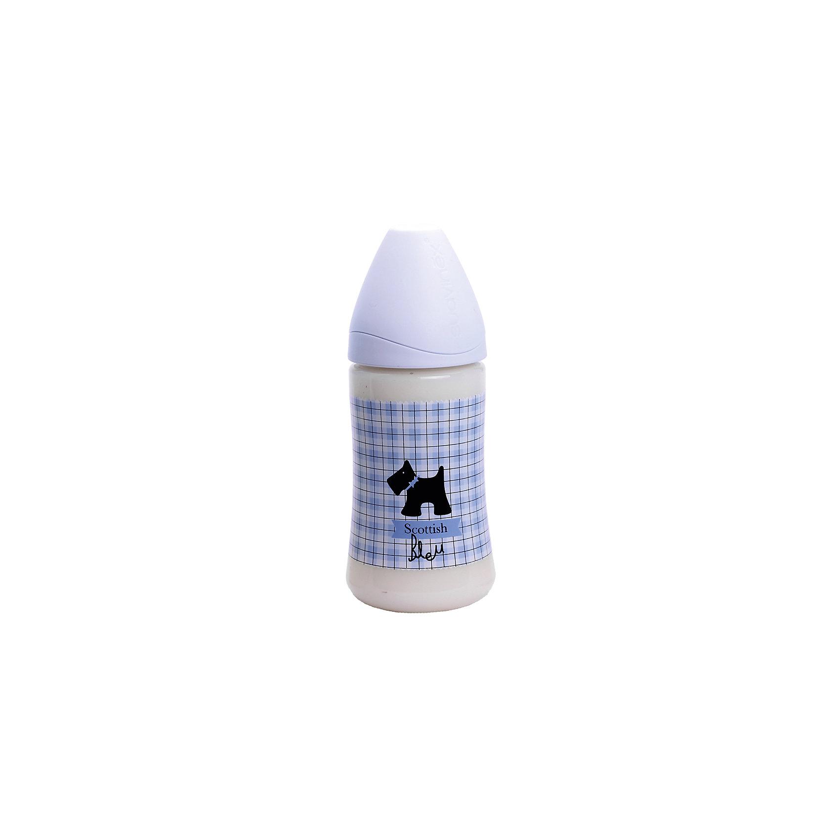 Бутылочка 270мл SCOTTISHот 0-6 мес.,Suavinex,бледно-голубой /черная собачкаБутылочки и аксессуары<br>Характеристики:<br><br>• Наименование: бутылка для кормления<br>• Рекомендуемый возраст: от 0 до 6 месяцев<br>• Пол: для мальчика<br>• Объем: 270 мл<br>• Материал: силикон, пластик<br>• Цвет: голубой, черный<br>• Рисунок: собачка, шотландская клетка<br>• Форма соски: анатомическая<br>• Комплектация: бутылочка, соска, колпачок<br>• Наличие антиколикового клапана<br>• Горлышко бутылки адаптировано под любую форму соски данного производителя<br>• Вес: 105 г<br>• Параметры (Д*Ш*В): 7*7*17,3 см <br>• Особенности ухода: регулярная стерилизация и своевременная замена<br><br>Бутылка 270 мл SCOTTISH от 0-6 мес., Suavinex, бледно-голубой/черная собачка изготовлена испанским торговым брендом, специализирующимся на выпуске товаров для кормления новорожденных и младенцев. Продукция от Suavinex разработана с учетом рекомендаций педиатров и стоматологов, что гарантирует не только качество и безопасность использованных материалов, но и обеспечивает правильное формирование неба. <br><br>Бутылочка выполнена с широким горлышком, что облегчает уход за ней. Силиконовая соска анатомической формы длительное время сохраняет свои свойства: не рассасывается и не слипается во время кормления. <br><br>Выполнена бутылка в стильном шотландском дизайне. Рисунок устойчив к появлениям царапин и выгоранию цвета даже при частой стерилизации. Бутылка 270 мл SCOTTISH от 0-6 мес., Suavinex, бледно-голубой/черная собачка станет непревзойденным аксессуаром для кормления вашего малыша.<br><br>Бутылку 270 мл SCOTTISH от 0-6 мес., Suavinex, бледно-голубой/черная собачка можно купить в нашем интернет-магазине.<br><br>Ширина мм: 70<br>Глубина мм: 70<br>Высота мм: 173<br>Вес г: 105<br>Возраст от месяцев: 0<br>Возраст до месяцев: 6<br>Пол: Мужской<br>Возраст: Детский<br>SKU: 5451299