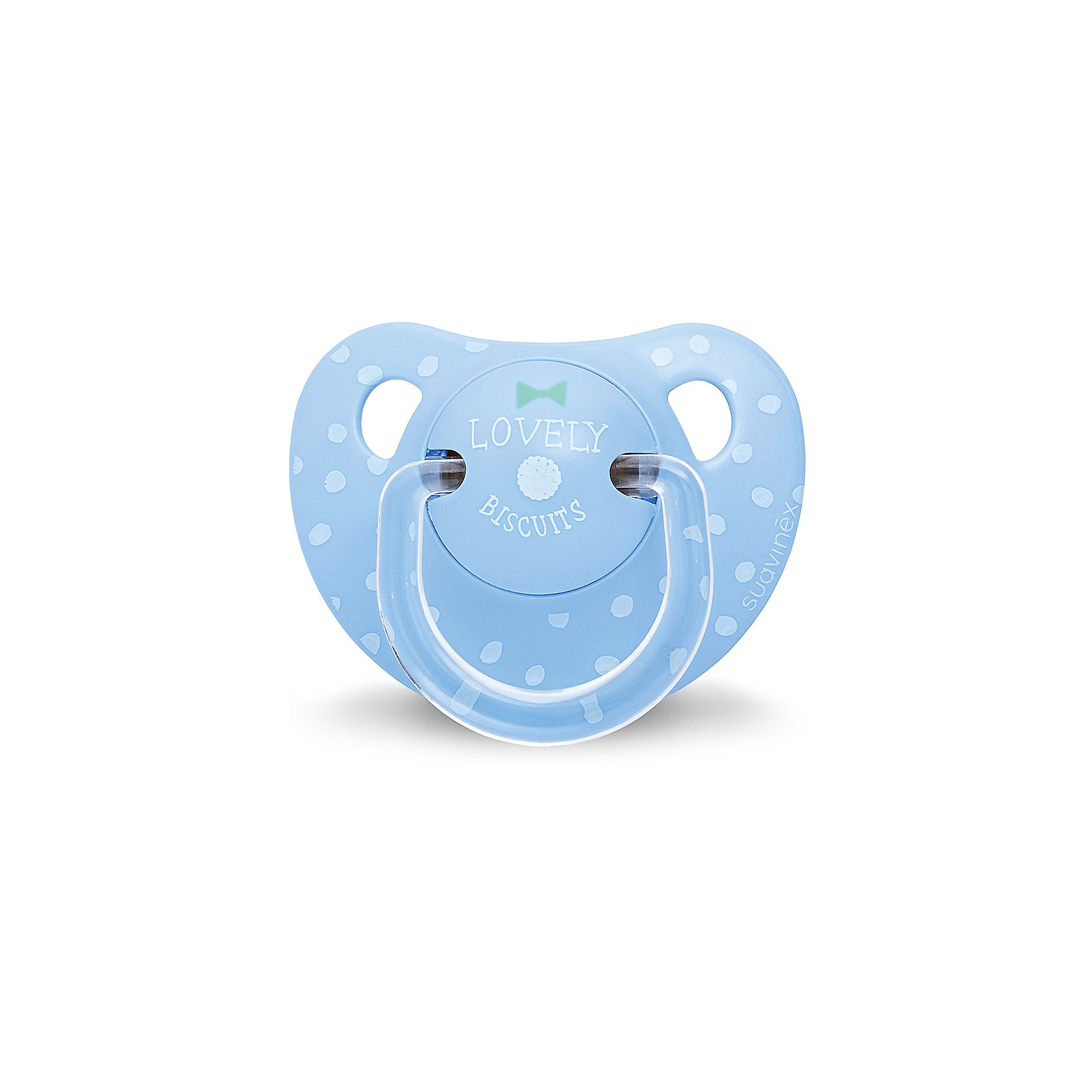 Пустышка силиконовая, от 6 мес, Suavinex, синий крапинкаХарактеристики:<br><br>• Наименование: пустышка<br>• Рекомендуемый возраст: от 6 месяцев<br>• Пол: для мальчика<br>• Материал: силикон, пластик<br>• Цвет: синий, голубой<br>• Рисунок: горошинки<br>• Форма: анатомическая<br>• Наличие вентиляционных отверстий <br>• Кольцо для держателя<br>• Вес: 27 г<br>• Параметры (Д*Ш*В): 5,4*6,5*10,9 см <br>• Особенности ухода: можно мыть в теплой воде, регулярная стерилизация <br><br>Пустышка силиконовая от 6 мес, Suavinex, синий крапинка изготовлена испанским торговым брендом, специализирующимся на выпуске товаров для кормления и аксессуаров новорожденным и младенцам. Продукция от Suavinex разработана с учетом рекомендаций педиатров и стоматологов, что гарантирует качество и безопасность использованных материалов. <br><br>Пластик, из которого изготовлено изделие, устойчив к появлению царапин и сколов, благодаря чему пустышка длительное время сохраняет свои гигиенические свойства. Форма у соски способствует равномерному распределению давления на небо, что обеспечивает правильное формирование речевого аппарата. <br><br>Пустышка имеет анатомическую форму, для прикрепления держателя предусмотрено кольцо. Изделие выполнено в брендовом дизайне, с изображением горошинок. Рисунок нанесен по инновационной технологии, которая обеспечивает его стойкость даже при длительном использовании и частой стерилизации.<br><br>Пустышку силиконовая от 6 мес, Suavinex, синий крапинка можно купить в нашем интернет-магазине.<br><br>Ширина мм: 54<br>Глубина мм: 65<br>Высота мм: 109<br>Вес г: 27<br>Возраст от месяцев: 6<br>Возраст до месяцев: 24<br>Пол: Мужской<br>Возраст: Детский<br>SKU: 5451360