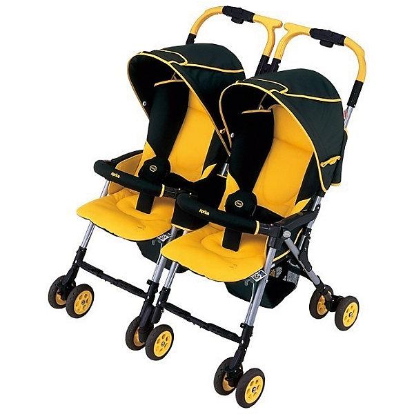 Прогулочная коляска для двойни Aprica Nelccobed Twin,Коляски для двойни<br>Характеристики коляски для двойни Aprica Nelccobed Twin<br><br>Прогулочный блок, у каждого свой: <br><br>• регулируемые по длине 3-х точечные ремни безопасности;<br>• регулируемый наклон спинки, угол наклона 130-170 градусов;<br>• глубокий капюшон оснащен широким солнцезащитным козырьком;<br>• на капюшоне находится смотровое окошко;<br>• съеный бампер, отодвигается с одной стороны или снимается полностью;<br>• бампер у каждого малыша отдельный;<br>• поддерживающая система терморегуляции;<br>• подножки регулируются по высоте;<br>• материал: пластик, полиэстер;<br>• высота сиденья от земли: 50 см.<br><br>Шасси коляски, общее для двоих: <br><br>• сдвоенные колеса коляски, 6 пар, всего 12 шт.;<br>• передние колеса поворотные с блокировкой;<br>• тип тормоза: ножной, расположен на 2-х колесах;<br>• механизм складывания: трость с защитой от раскладывания;<br>• рама складывается вместе с прогулочным блоком;<br>• коляска сохраняет устойчивое вертикальное положение;<br>• материал рамы: алюминий.<br><br>Размер коляски: 89х78х97 см<br>Размер коляски в сложенном виде: 65х34х96 см<br>Вес коляски: 9,6 кг<br>Максимальная нагрузка на коляску: 30 кг<br><br>Комплектация:<br><br>• коляска для двойни Nelccobed Twin;<br>• 2 накидки на ножки, крепятся кнопками к бамперам;<br>• дождевик в сумочке, закрывает оба прогулочных блока одновременно;<br>• ремешок для переноски коляски;<br>• инструкция. <br><br>Прогулочную коляску для двойни Nelccobed Twin, Aprica можно купить в нашем интернет-магазине.<br><br>Ширина мм: 650<br>Глубина мм: 340<br>Высота мм: 970<br>Вес г: 12300<br>Возраст от месяцев: 1<br>Возраст до месяцев: 36<br>Пол: Унисекс<br>Возраст: Детский<br>SKU: 5451751