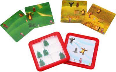 Логическая игра Играем в прятки , Маша и медведь, Bondibon