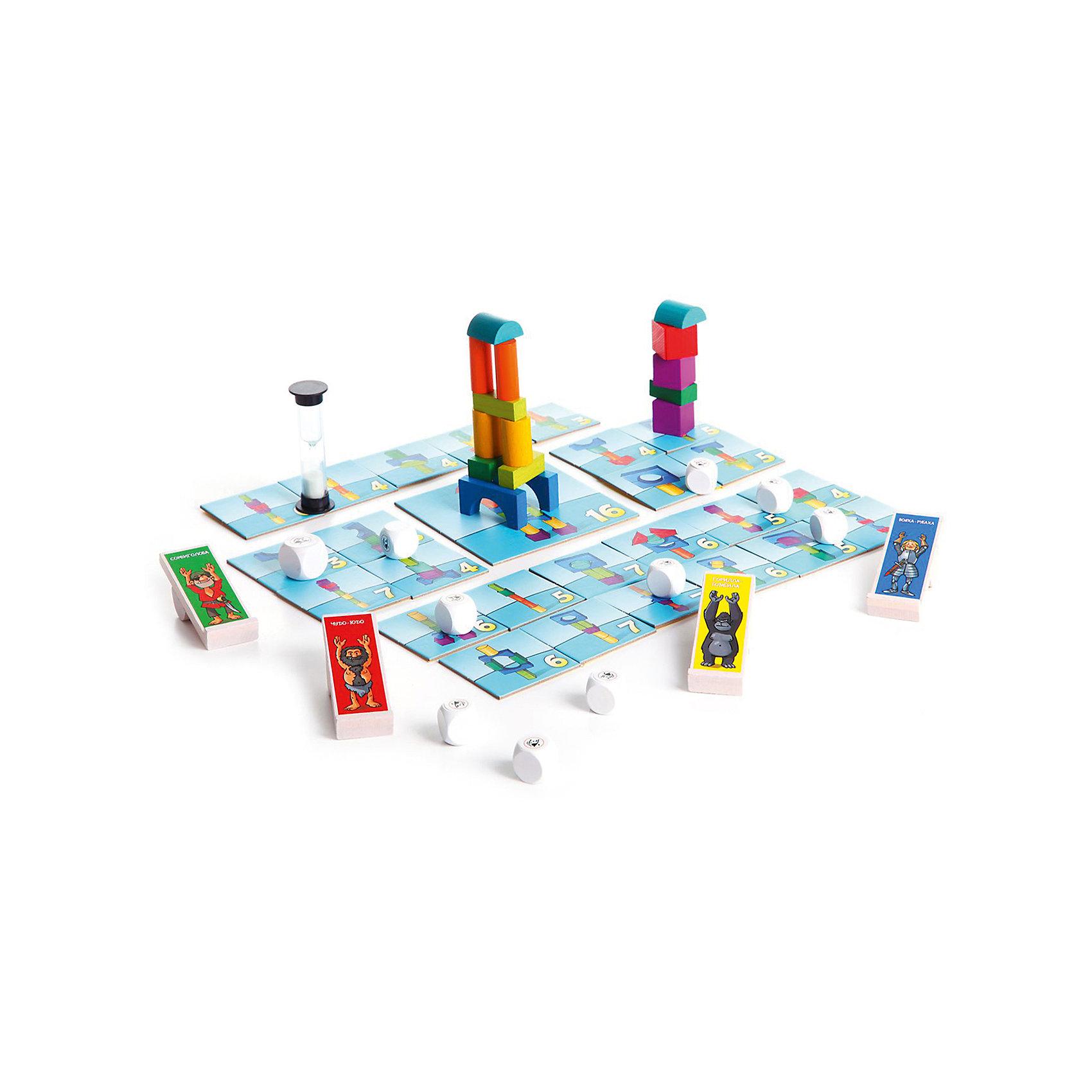 Настольная игра Вдребезги, BondibonИгры для развлечений<br>Настольная игра Вдребезги, Bondibon (Бондибон).<br><br>Характеристики:<br><br>• Возраст: от 6 лет<br>• Комплектация: 26 карточек с рисунками башен, 16 деталей башен, 10 кубиков-снарядов, 4 катапульты, песочные часы, наклейка, инструкция<br>• Количество игроков: от 2 до 5 человек<br>• Материал: пластик, картон, древесина<br>• Упаковка: картонная коробка<br>• Размер упаковки: 30x30x8 см.<br>• Вес: 1083 гр.<br><br>«Вдребезги» – это слово больше не пугает детей и не расстраивает взрослых, потому что речь идет не о маминой любимой вазе, а об увлекательной настольной игре для веселой детской компании. Играть в нее детям очень просто и необыкновенно интересно. Один из игроков – строитель, остальные – разрушители. <br><br>Строитель должен за определенное время построить из деревянных деталей как можно больше башен. А задача остальных игроков – разрушить башни с помощью катапульт и кубиков-снарядов. За каждую уцелевшую башню строитель в конце раунда получает очки, кто первым наберет победное количество очков – тот и выиграл. <br><br>Эта веселая динамичная игра – прекрасный тренажер для развития внимания, глазомера и быстроты реакции. И, конечно же, отличная возможность получить заряд позитива в компании друзей!<br><br>Настольную игру Вдребезги, Bondibon (Бондибон) можно купить в нашем интернет-магазине.<br><br>Ширина мм: 295<br>Глубина мм: 70<br>Высота мм: 295<br>Вес г: 1083<br>Возраст от месяцев: 72<br>Возраст до месяцев: 144<br>Пол: Унисекс<br>Возраст: Детский<br>SKU: 5451758