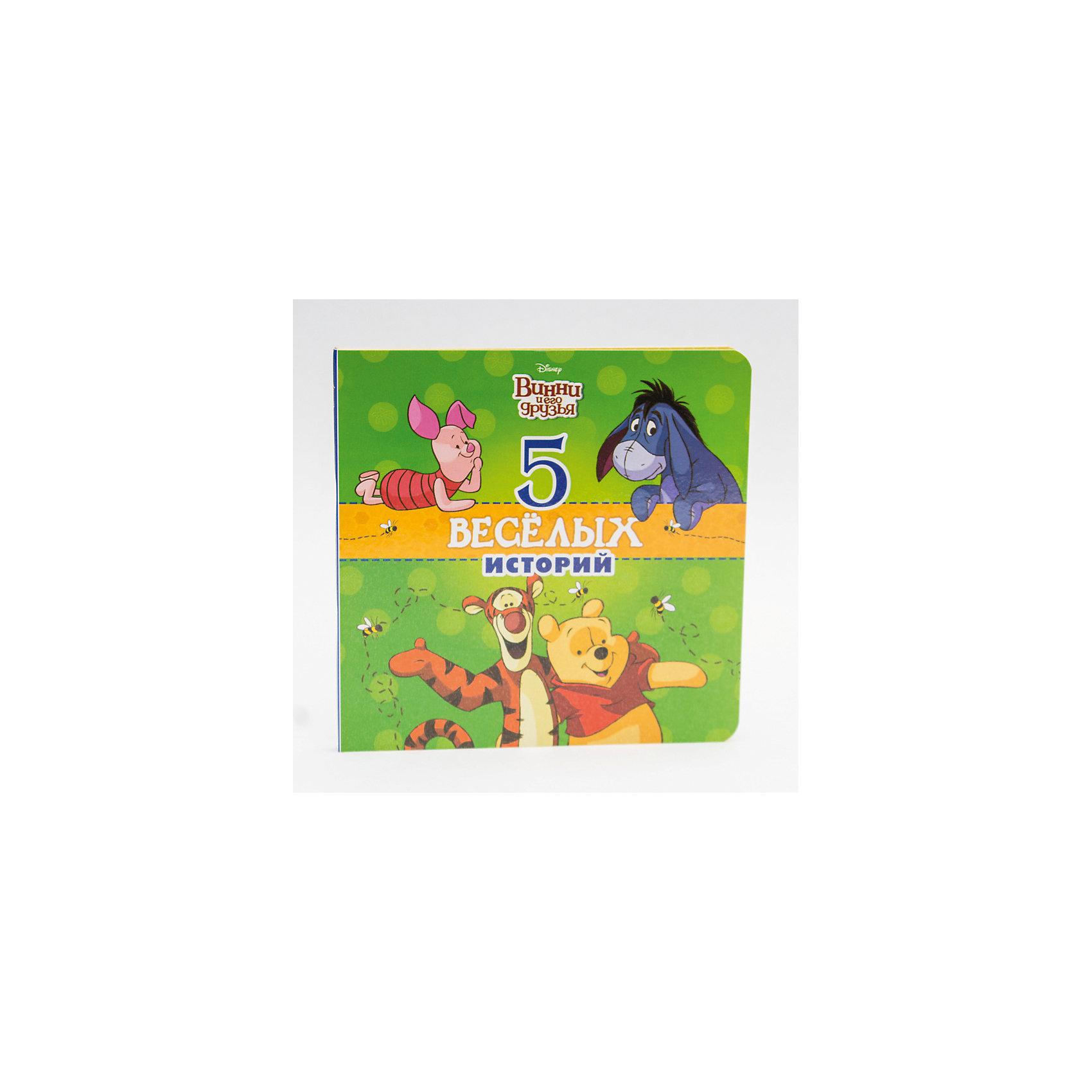 Пять веселых историй Винни, DisneyВинни Пух Дисней<br>Книга Пять веселых историй Винни, Disney.<br><br>Характеристики:<br><br>• Издательство: Проф-Пресс, 2016 г.<br>• Серия: Disney. 5 историй<br>• Тип обложки: картонная обложка<br>• Оформление: вырубка<br>• Иллюстрации: цветные<br>• Количество страниц: 18 (картон)<br>• Размер: 195х195х8 мм.<br>• Вес: 260 гр.<br>• ISBN: 9785378257737<br><br>Давай отправимся навстречу приключениям вместе с любимым медвежонком Винни и его друзьями. Чудеса Большого Леса поджидают тебе на каждом шагу! Ты поможешь Кролику в его огороде, а также вместе с Хрюником нарисуешь портреты своих друзей! Это и ещё многое другое ждёт тебя на страницах этой книги. Скорее открывай её и читай 5 весёлых историй о Винни! Для дошкольного возраста.<br><br>Книгу Пять веселых историй Винни, Disney можно купить в нашем интернет-магазине.<br><br>Ширина мм: 195<br>Глубина мм: 10<br>Высота мм: 195<br>Вес г: 0<br>Возраст от месяцев: 36<br>Возраст до месяцев: 2147483647<br>Пол: Унисекс<br>Возраст: Детский<br>SKU: 5452241