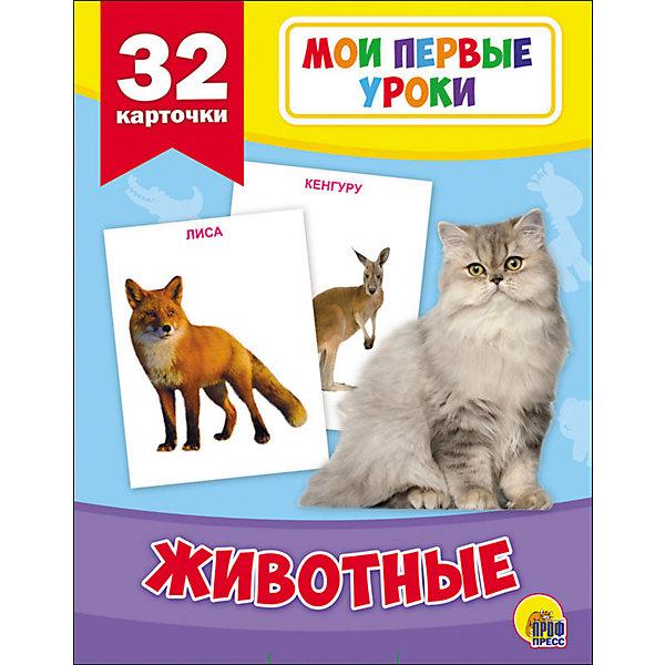 Купить Развивающие карточки Мои первые уроки , Проф-Пресс, Россия, Унисекс