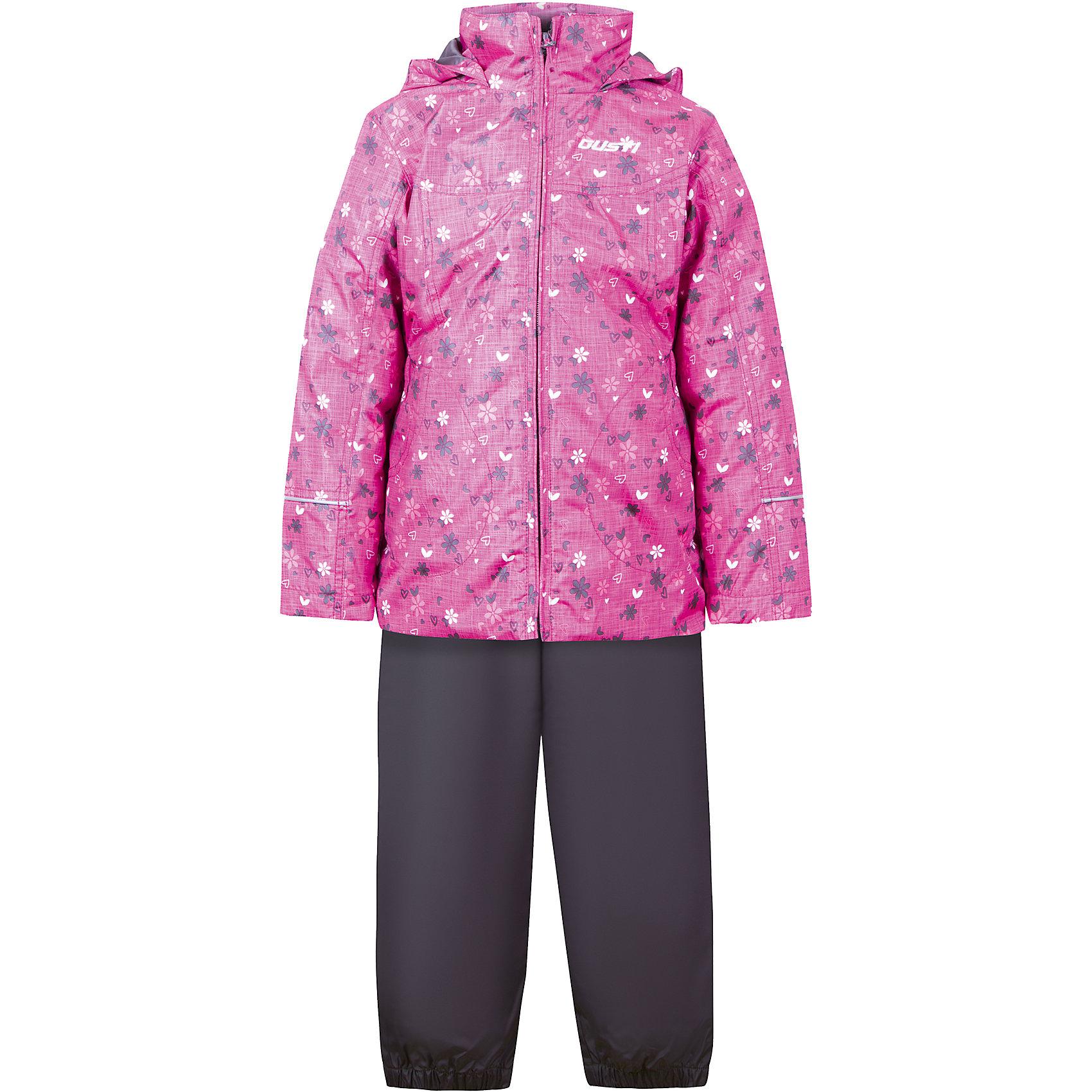 Комплект: куртка, толстовка и брюки для девочки GustiВерхняя одежда<br>Характеристики товара:<br><br>• цвет: розовый<br>• состав: 100% полиэстер, подкладка, утеплитель - 100% полиэстер<br>• комплектация: куртка, съемная флисовая подкладка, брюки<br>• температурный режим: от +5° С до +15° С<br>• водонепроницаемый материал<br>• капюшон<br>• карманы<br>• съемные подтяжки<br>• брючины эластичные<br>• комфортная посадка<br>• светоотражающие элементы<br>• молния<br>• утеплитель: синтепон<br>• демисезонный<br>• страна бренда: Канада<br><br>Этот демисезонный комплект из куртки, пристегивающейся к ней толстовки из флиса, и штанов поможет обеспечить ребенку комфорт и тепло. Предметы удобно садятся по фигуре, отлично смотрятся с различной обувью. Комплект очень модно выглядит, он хорошо защищает от ветра и влаги. Материал отлично подходит для дождливой погоды. Стильный дизайн разрабатывался специально для детей.<br><br>Комплект: куртка, толстовка и брюки для девочки от известного бренда Gusti (Густи) можно купить в нашем интернет-магазине.<br><br>Ширина мм: 356<br>Глубина мм: 10<br>Высота мм: 245<br>Вес г: 519<br>Цвет: фиолетовый<br>Возраст от месяцев: 18<br>Возраст до месяцев: 24<br>Пол: Женский<br>Возраст: Детский<br>Размер: 92,122,128,140,152,98,100,104,110,116,120<br>SKU: 5452476