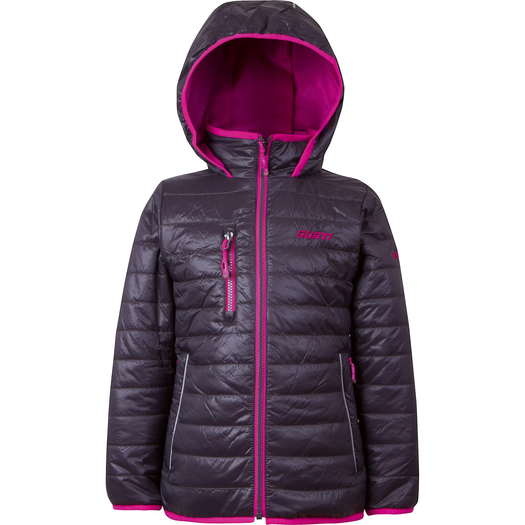 Куртка для девочки GustiВерхняя одежда<br>Характеристики товара:<br><br>• цвет: чёрный<br>• состав: 100% полиэстер, полиуретановое покрытие, подкладка - 100% полиэстер<br>• наполнитель: 100 гр teck polifill<br>• температурный режим: от +5° С до +15° С<br>• водонепроницаемый материал<br>• капюшон<br>• карманы<br>• водонепроницаемость: 2000 мм<br>• паропроницаемость: 2000 г/м2<br>• комфортная посадка<br>• светоотражающие элементы<br>• молния<br>• подкладка: таффета<br>• демисезонная<br>• страна бренда: Канада<br><br>Эта демисезонная куртка с мембранной технологией поможет обеспечить ребенку комфорт и тепло. Изделие удобно садится по фигуре, отлично смотрится с различным низом и обувью. Куртка модно выглядит, она хорошо защищает от ветра и влаги. Материал отлично подходит для дождливой погоды. Стильный дизайн разрабатывался специально для детей.<br><br>Куртку для девочки от известного бренда Gusti (Густи) можно купить в нашем интернет-магазине.<br><br>Ширина мм: 356<br>Глубина мм: 10<br>Высота мм: 245<br>Вес г: 519<br>Цвет: черный<br>Возраст от месяцев: 24<br>Возраст до месяцев: 36<br>Пол: Женский<br>Возраст: Детский<br>Размер: 100,110,152,116,120,122,128,140,92,98,104<br>SKU: 5452538