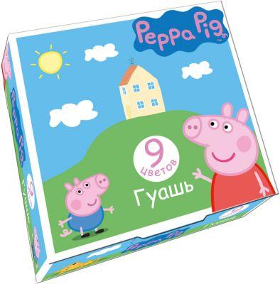 Росмэн Гуашь Свинка Пеппа , 9 цветов, Peppa Pig