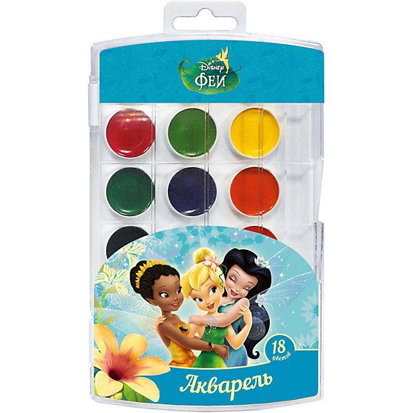 Акварель, 18 цветов, Disney FairiesРисование и лепка<br>Характеристики акварели 18 цветов, Disney Fairies:<br><br>• возраст: от 3-х лет<br>• пол: для мальчиков и девочек<br>• тип: акварель<br>• состав: вода питьевая, декстрин, глицерин, сахар, органические и неорганические тонкодисперсные пигменты, консервант, наполнитель. <br>• вес: 105 гр.<br>• упаковка пенал пластмассовый<br>• размеры, пенала: 19.5 х 11.2 х 1 см<br>• размер упаковки : 20 x 11 x 1 см<br>• страна обладателя бренда: Украина <br><br>В наборе акварельных красок «Disney» Феи 18 ярких, насыщенных цветов. Краски превосходно подходят для рисования: они хорошо размываются водой, легко наносятся на поверхность, быстро сохнут, безопасны при использовании по назначению. Состав: вода питьевая, декстрин, глицерин, сахар, органические и неорганические тонкодисперсные пигменты, консервант, наполнитель. Срок годности не ограничен.<br><br>Акварель, 18 цветов, Disney Fairies можно купить в нашем интернет-магазине.<br><br>Ширина мм: 195<br>Глубина мм: 110<br>Высота мм: 100<br>Вес г: 118<br>Возраст от месяцев: 36<br>Возраст до месяцев: 2147483647<br>Пол: Женский<br>Возраст: Детский<br>SKU: 5453360