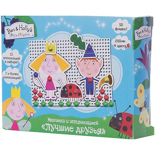 Мозаика с аппликацией Лучшие друзья, Бен и ХоллиМозаика детская<br>Характеристики товара:<br><br>• комплектация: 50 пластиковых фишек диаметром 10 мм (4 цвета), пластиковая мини-плата (основа мозаики), 13 картонных фигур-аппликаций<br>• размер картинки: 11х16 см<br>• набор позволяет выполнить 7 и более композиций с героями мультфильма<br>• упаковка: коробка (18,5x4x20 см).<br>• состав: картон, полимер<br>• страна бренда: Россия<br>• страна изготовитель: Китай<br><br>С набором Лучшие друзья малыш по инструкции составит 7 очаровательных композиций с героями мультфильма Маленькое королевство Бена и Холли и сам придумает множество сюжетных картинок, по-разному сочетая фишки и аппликации. Для этого в наборе есть 50 фишек 4-х цветов и 13 фигурок-аппликаций, которые дают безграничный простор для воображения. <br><br>В наборе Лучшие друзья ТМ Бен и Холли: 50 пластиковых фишек диаметром 10 мм (4 цвета), пластиковая мини-плата (основа мозаики) - 11х16 см, 13 картонных фигур-аппликаций. Набор позволяет выполнить более 7-ми композиций.<br><br>Мозаику с аппликацией «Лучшие друзья», Бен и Холли, вы можете приобрести в нашем интернет-магазине.<br>Ширина мм: 185; Глубина мм: 140; Высота мм: 40; Вес г: 105; Возраст от месяцев: 36; Возраст до месяцев: 2147483647; Пол: Унисекс; Возраст: Детский; SKU: 5453372;