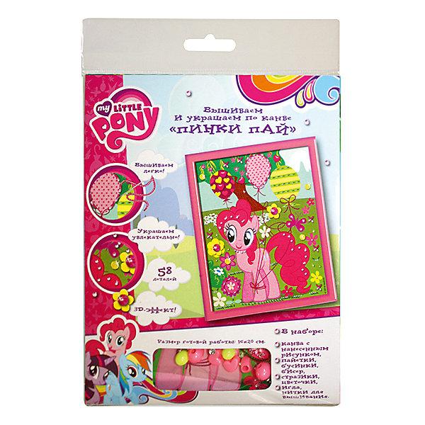 Вышивка и украшение по канве Пинки Пай, MyLittlePonyШитьё<br>Характеристики товара:<br><br>• комплектация: текстильная канва с нанесенным рисунком, иголка, нитки, бусинки, стразы, пайетки, тканевые цветы<br>• размер картинки: 16х20 см<br>• упаковка: блистер<br>• возраст: от 7 лет<br>• состав: пластик, текстиль<br>• страна бренда: Россия<br>• страна изготовитель: Китай<br><br>Для создания прекрасной поделки с 3D-эффектом нужно вышить шарик розовыми нитками, а травку - зелеными. Затем следует пришить цветочки, бусинки, пайетки и приклеить блестящие стразы.<br><br>В наборе для вышивания и украшения по канве Пинки Пай ТМ Мой маленький пони: текстильная канва с нанесенным рисунком (16х20 см), иголка, нитки, бусинки, стразы, пайетки, тканевые цветы.<br><br>Вышивка и украшение по канве Пинки Пай, MyLittlePony, вы можете приобрести в нашем интернет-магазине.<br>Ширина мм: 200; Глубина мм: 160; Высота мм: 10; Вес г: 50; Возраст от месяцев: 84; Возраст до месяцев: 2147483647; Пол: Женский; Возраст: Детский; SKU: 5453375;