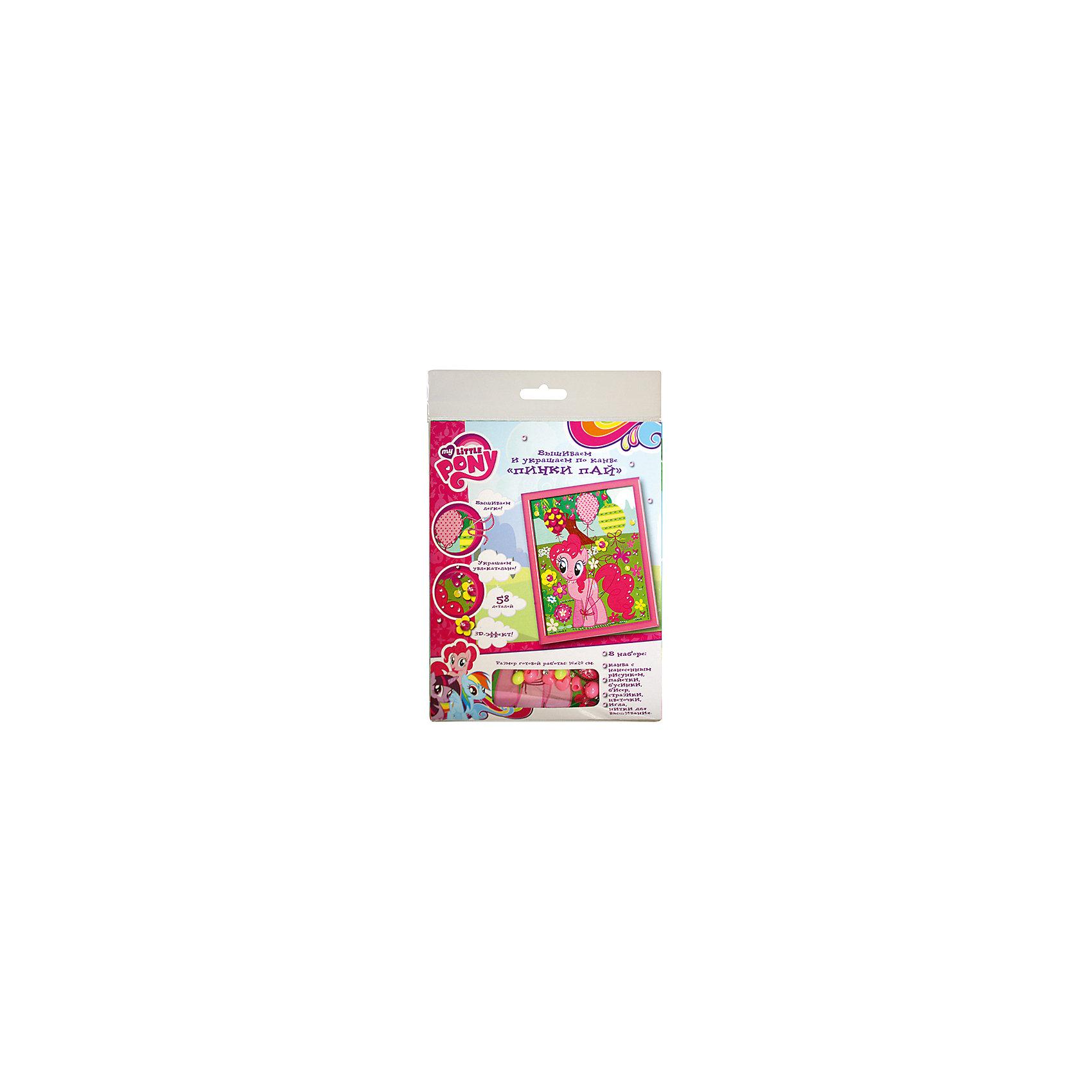 Вышивка и украшение по канве Пинки Пай, MyLittlePonyMy little Pony<br>Характеристики товара:<br><br>• комплектация: текстильная канва с нанесенным рисунком, иголка, нитки, бусинки, стразы, пайетки, тканевые цветы<br>• размер картинки: 16х20 см<br>• упаковка: блистер<br>• возраст: от 7 лет<br>• состав: пластик, текстиль<br>• страна бренда: Россия<br>• страна изготовитель: Китай<br><br>Для создания прекрасной поделки с 3D-эффектом нужно вышить шарик розовыми нитками, а травку - зелеными. Затем следует пришить цветочки, бусинки, пайетки и приклеить блестящие стразы.<br><br>В наборе для вышивания и украшения по канве Пинки Пай ТМ Мой маленький пони: текстильная канва с нанесенным рисунком (16х20 см), иголка, нитки, бусинки, стразы, пайетки, тканевые цветы.<br><br>Вышивка и украшение по канве Пинки Пай, MyLittlePony, вы можете приобрести в нашем интернет-магазине.<br><br>Ширина мм: 200<br>Глубина мм: 160<br>Высота мм: 10<br>Вес г: 50<br>Возраст от месяцев: 84<br>Возраст до месяцев: 2147483647<br>Пол: Женский<br>Возраст: Детский<br>SKU: 5453375
