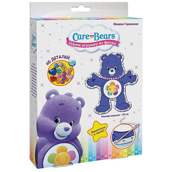Шьем игрушку из фетра Мишка Гармония, Заботливые мишкиШитьё<br>Характеристики товара:<br><br>• комплектация: 2 фетровые детали с нанесенным рисунком и перфорацией для стежков, пластиковая безопасная иголка, пуговка-носик, пуговка-сердечко, 5 цветов пайеток, набивка, нитки<br>• размер готовой игрушки: 20 см<br>• упаковка: коробка<br>• возраст: от 5 лет<br>• состав: пластик, текстиль<br>• страна бренда: Россия<br>• страна изготовитель: Китай<br><br>Украсьте фетровые детали блестящими пайетками, пришейте глазки и носик, а затем сложите выкройки белой стороной внутрь, совмещая контур фигурки. Вденьте нитку в иголку и начните обшивать контур туловища, набивая сначала ручки и ножки. Постепенно наполняйте всю игрушку и, закончив, закрепите нить узелком. <br><br>В наборе для шитья игрушки из фетра Мишка Гармония TM Care Bears 40 деталей: 2 фетровые детали с нанесенным рисунком и перфорацией для стежков, пластиковая безопасная иголка, пуговка-носик, пуговка-сердечко, 5 цветов пайеток (голубые, розовые, зеленые, оранжевые, фиолетовые), набивка, нитки. Детали легко сшиваются безопасной иголкой. Размер готовой игрушки: 20 см. <br><br>Шьем игрушку из фетра Мишка Гармония, Заботливые мишки, вы можете приобрести в нашем интернет-магазине.<br>Ширина мм: 230; Глубина мм: 170; Высота мм: 40; Вес г: 100; Возраст от месяцев: 60; Возраст до месяцев: 2147483647; Пол: Женский; Возраст: Детский; SKU: 5453386;