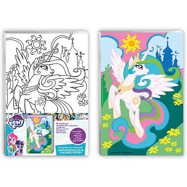 Роспись по холсту Принцесса Селестия 20*30 см, MyLittlePonyMy little Pony<br>Характеристики товара:<br><br>• количество цветов: 5 шт.<br>• комплект: акриловые краски, холст, палитра, кисточки<br>• размер картинки: 20х30 см<br>• акриловые краски легко ложатся на холст, быстро сохнут, хорошо растворяются в воде, после высыхания становятся водонепроницаемыми<br>• состав: текстиль, дерево, акрил, металл, пластик<br>• страна бренда: Россия<br>• страна изготовитель: Китай<br><br>В набор для творчества входит все, чтобы создать настоящее произведение искусства своими руками: холст с нанесенными контурами рисунка, краски, палитра, кисточка. Можно раскрасить рисунок по образцу. Смешивая краски, юный художник получит новые цвета и оттенки. Ткань обработана специальным составом, который обеспечивает нанесение красок равномерным слоем. Роспись по холсту абсолютно безопасна для вашего ребенка, она не содержит вредных для здоровья веществ.<br><br>Роспись по холсту Принцесса Селестия 20*30 см, MyLittlePony вы можете приобрести в нашем интернет-магазине.<br><br>Ширина мм: 200<br>Глубина мм: 300<br>Высота мм: 150<br>Вес г: 230<br>Возраст от месяцев: 36<br>Возраст до месяцев: 2147483647<br>Пол: Женский<br>Возраст: Детский<br>SKU: 5453433