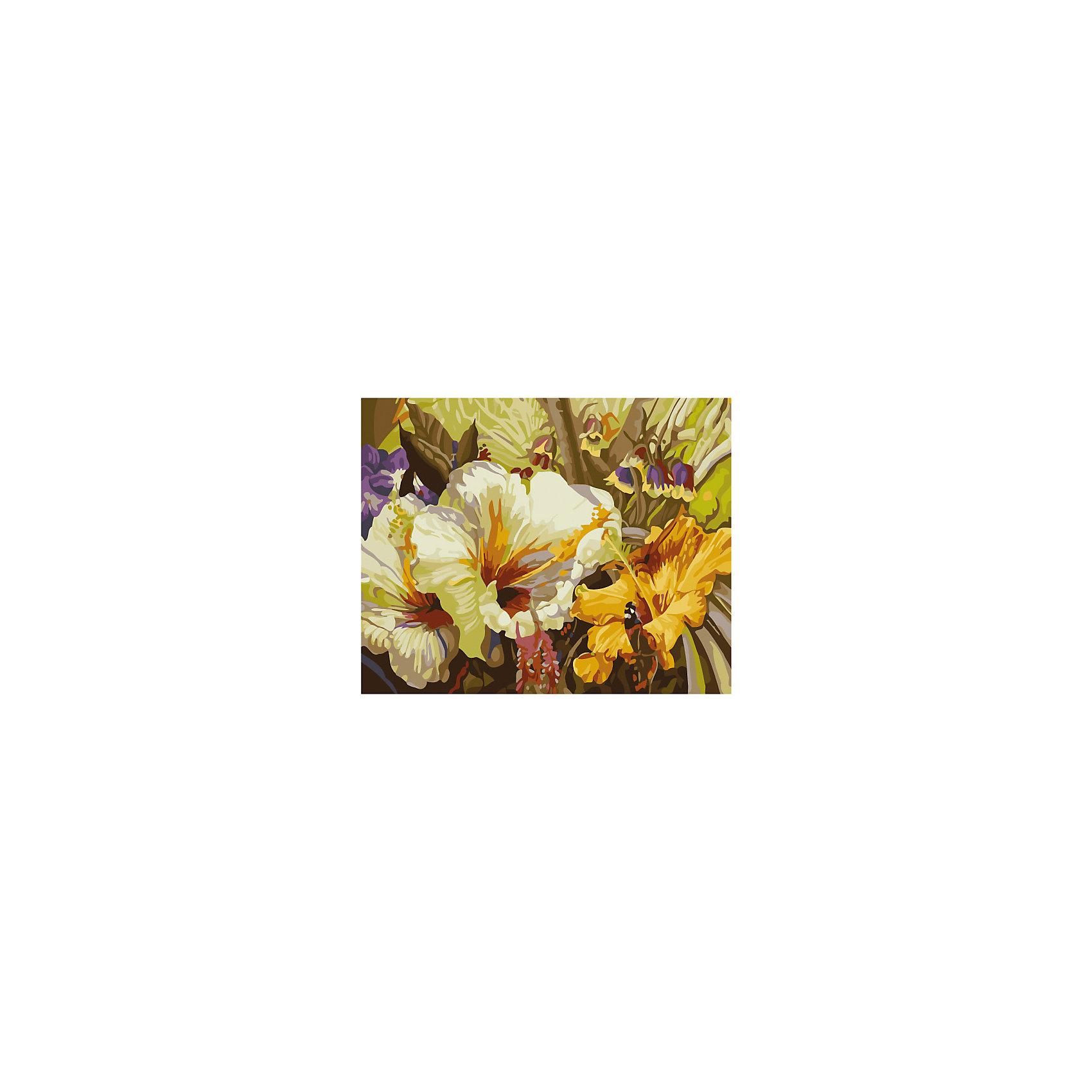 Роспись холста по номерам Цветочная соната, 40х50 см, CreattoРаскраски по номерам<br>Характеристики товара:<br><br>• количество цветов: 24 шт.<br>• комплект: холст с нанесенным рисунком, акриловые краски (24 цвета), 3 кисточки, крепежные петли для подвешивания холста, контрольная схема рисунка<br>• размер картинки: 40х50 см<br>• акриловые краски легко ложатся на холст, быстро сохнут, хорошо растворяются в воде, после высыхания становятся водонепроницаемыми<br>• состав: 100% хлопок, картон, пластик<br>• страна бренда: Россия<br>• страна изготовитель: Китай<br><br>В набор для творчества входит все, чтобы создать настоящее произведение искусства своими руками: холст с нанесенными контурами рисунка, краски, палитра, кисточка. Можно раскрасить рисунок по образцу. Смешивая краски, юный художник получит новые цвета и оттенки. Ткань обработана специальным составом, который обеспечивает нанесение красок равномерным слоем.<br><br>Набор «Роспись холста по номерам Цветочная соната, 40х50 см, Creatto» вы можете приобрести в нашем интернет-магазине.<br><br>Ширина мм: 500<br>Глубина мм: 400<br>Высота мм: 150<br>Вес г: 479<br>Возраст от месяцев: 84<br>Возраст до месяцев: 2147483647<br>Пол: Унисекс<br>Возраст: Детский<br>SKU: 5453454