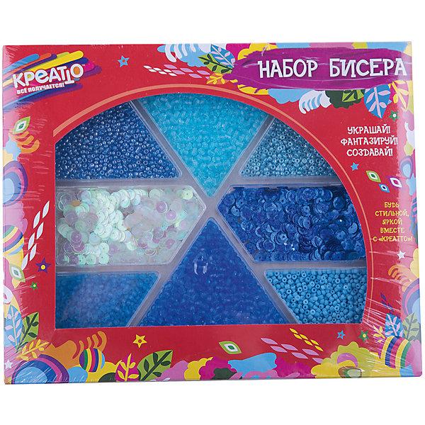 Набор бисера Голубая лагуна, CreattoНаборы для создания украшений<br>Характеристики:<br>• в комплекте: бисер, стеклярус, бусины, пайетки;<br>• материал: пластик, стекло;<br>• возраст: от 6 лет;<br>• размер упаковки: 23,5х19,5х2 см.<br><br>«Голубая лагуна» - набор для детского творчества. В комплект входят бусины, пайетки и бисер. Воспользовавшись советами на упаковке, девочка сможет украсить свою одежду и создать прекрасные украшения для создания стильного образа.<br><br>Все детали находятся в отдельных коробочках, благодаря чему они не просыпаются и не смешиваются.<br><br>Занятия бисероплетением развивают мелкую моторику, воображение и усидчивость.<br><br>Набор бисера Голубая лагуна, Creatto (Креатто) можно купить в нашем интернет-магазине.<br><br>Ширина мм: 235<br>Глубина мм: 195<br>Высота мм: 20<br>Вес г: 270<br>Возраст от месяцев: 36<br>Возраст до месяцев: 2147483647<br>Пол: Унисекс<br>Возраст: Детский<br>SKU: 5453457