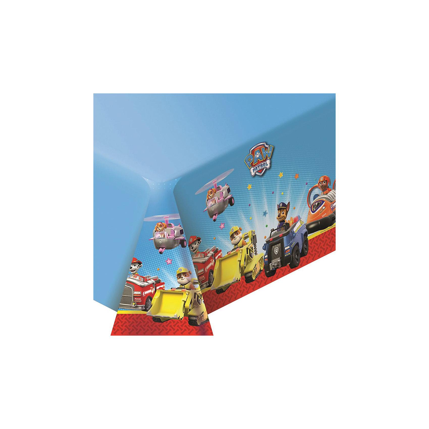 Скатерть 133*183 см., Щенячий патрульКрасивая и практичная полиэтиленовая скатерть Щенячий патруль (133х183 см) стильно украсит праздничный стол и сохранит его в чистоте. Желаете оформить детский праздник в единой стилистике? Тогда вы можете выбрать другие товары из серии Щенячий патруль: стаканы, тарелки, салфетки, язычки, колпаки, маски, приглашение в конверте, свечи, маски, пакеты и др. Товар сертифицирован.<br><br>Ширина мм: 364<br>Глубина мм: 178<br>Высота мм: 30<br>Вес г: 110<br>Возраст от месяцев: 36<br>Возраст до месяцев: 2147483647<br>Пол: Унисекс<br>Возраст: Детский<br>SKU: 5453481