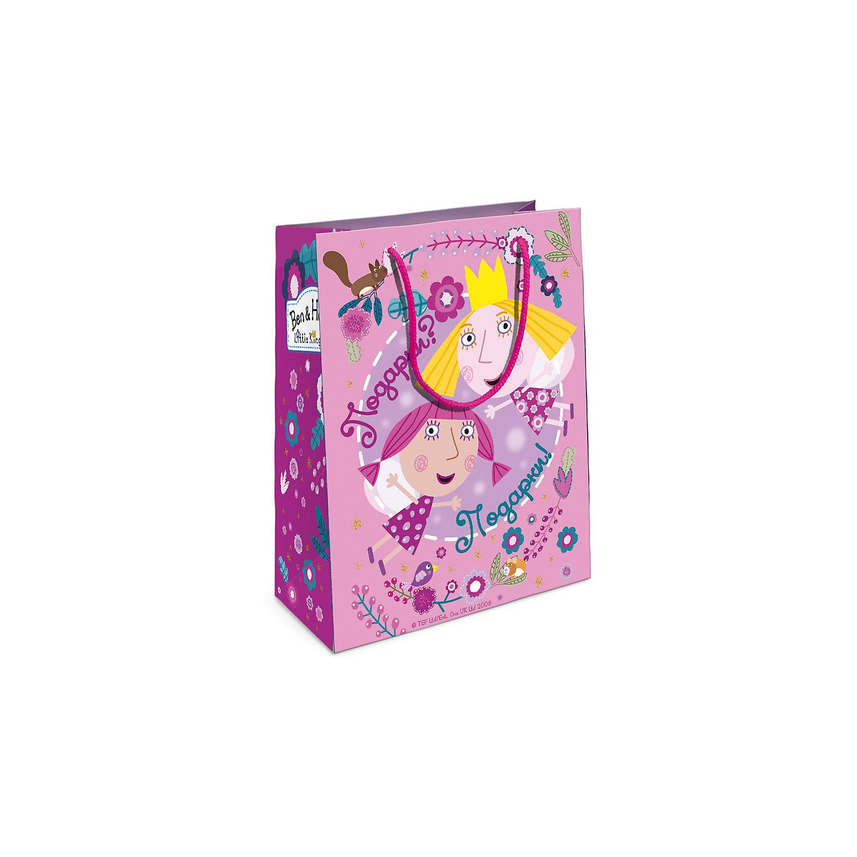 Пакет подарочный Холли-фея 230*180*100, Бен и ХоллиВсё для праздника<br>Подарочный бумажный пакет Бен и Холли стильно и эффектно украсит ваш подарок для малышки. Размер: 23х18х10 см. В ассортименте вы сможете найти такой же пакет размером 35х25х9 см.<br><br>Ширина мм: 230<br>Глубина мм: 180<br>Высота мм: 50<br>Вес г: 39<br>Возраст от месяцев: 36<br>Возраст до месяцев: 2147483647<br>Пол: Унисекс<br>Возраст: Детский<br>SKU: 5453486