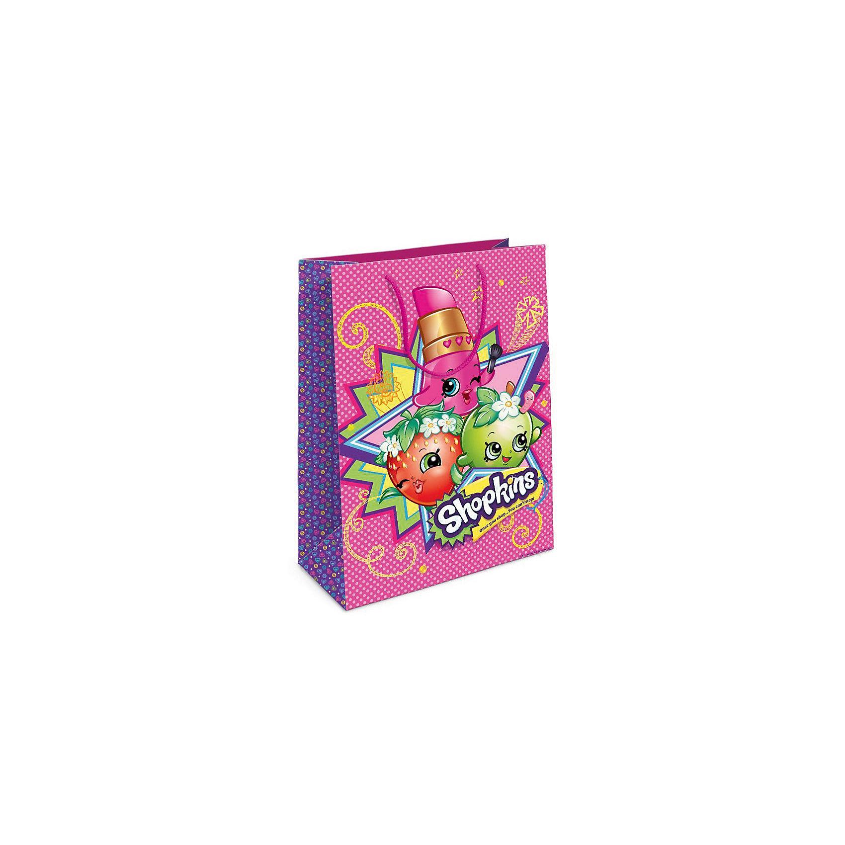 Пакет подарочный, 350*250*90, ShopkinsВсё для праздника<br>Подарочный бумажный пакет Шопкинс стильно и эффектно украсит ваш подарок. Размер: 35х25х9 см. В ассортименте вы сможете найти такой же пакет размером 23х18х10 см.<br><br>Ширина мм: 350<br>Глубина мм: 250<br>Высота мм: 50<br>Вес г: 61<br>Возраст от месяцев: 36<br>Возраст до месяцев: 2147483647<br>Пол: Унисекс<br>Возраст: Детский<br>SKU: 5453490